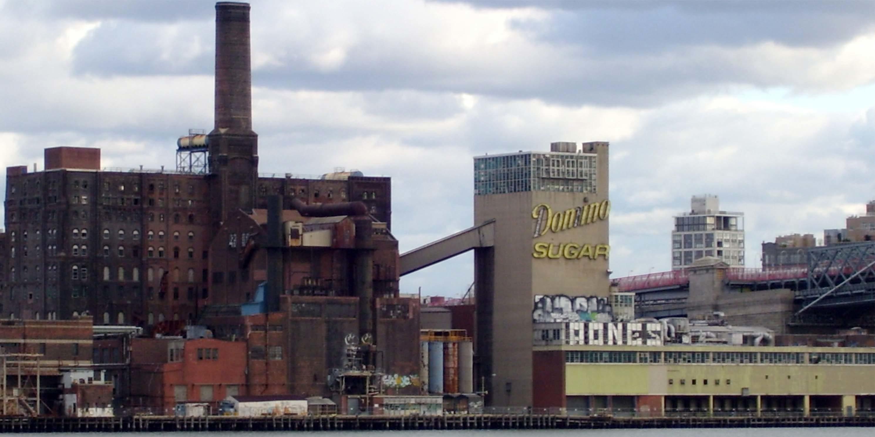 exterior of the Domino Sugar refinery