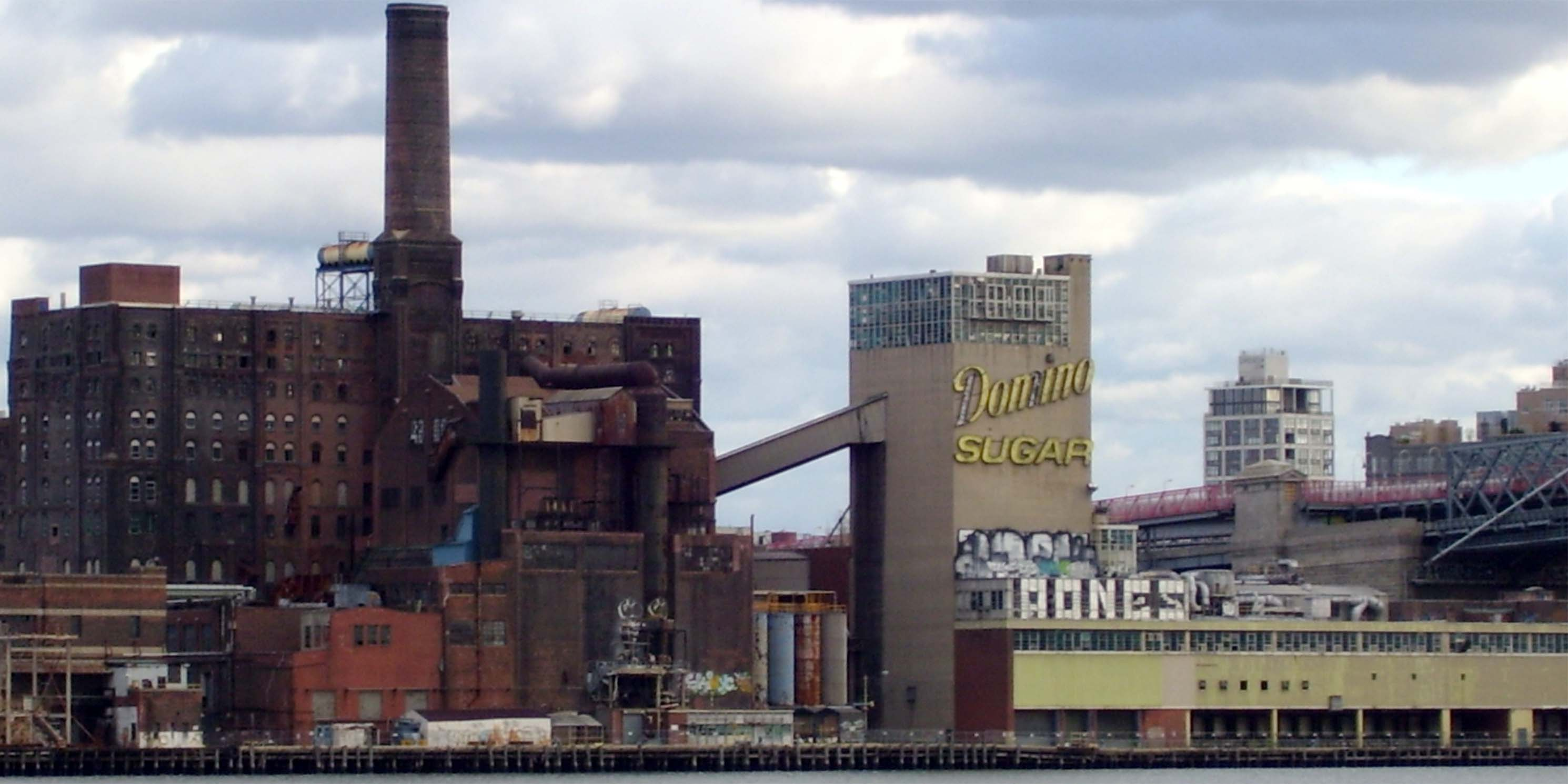 exterior of the Domino Sugar refinery