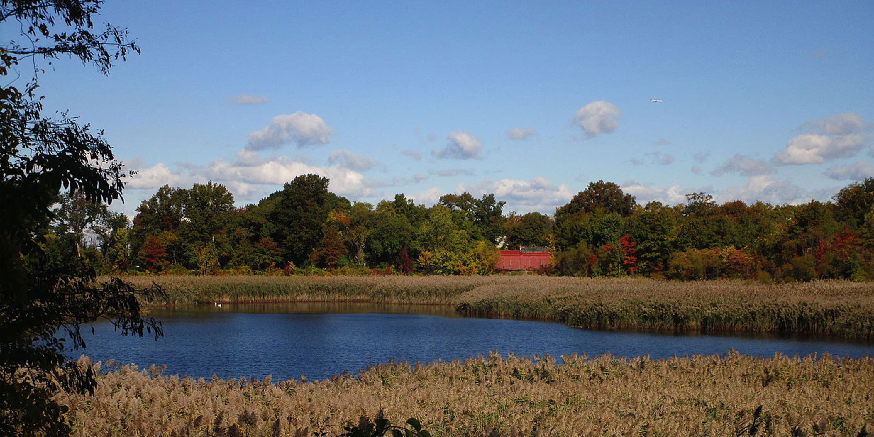 The second basin of the Ridgewood Reservoir