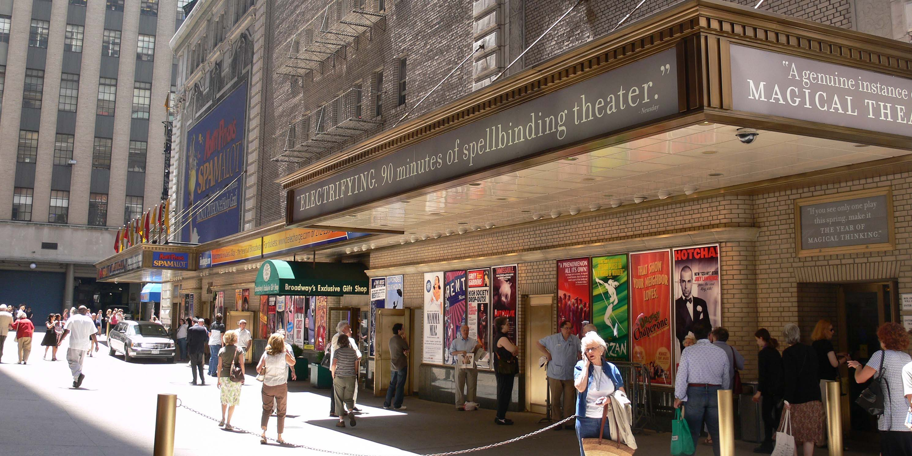 Exterior of the Booth Theater and Shubert Theater
