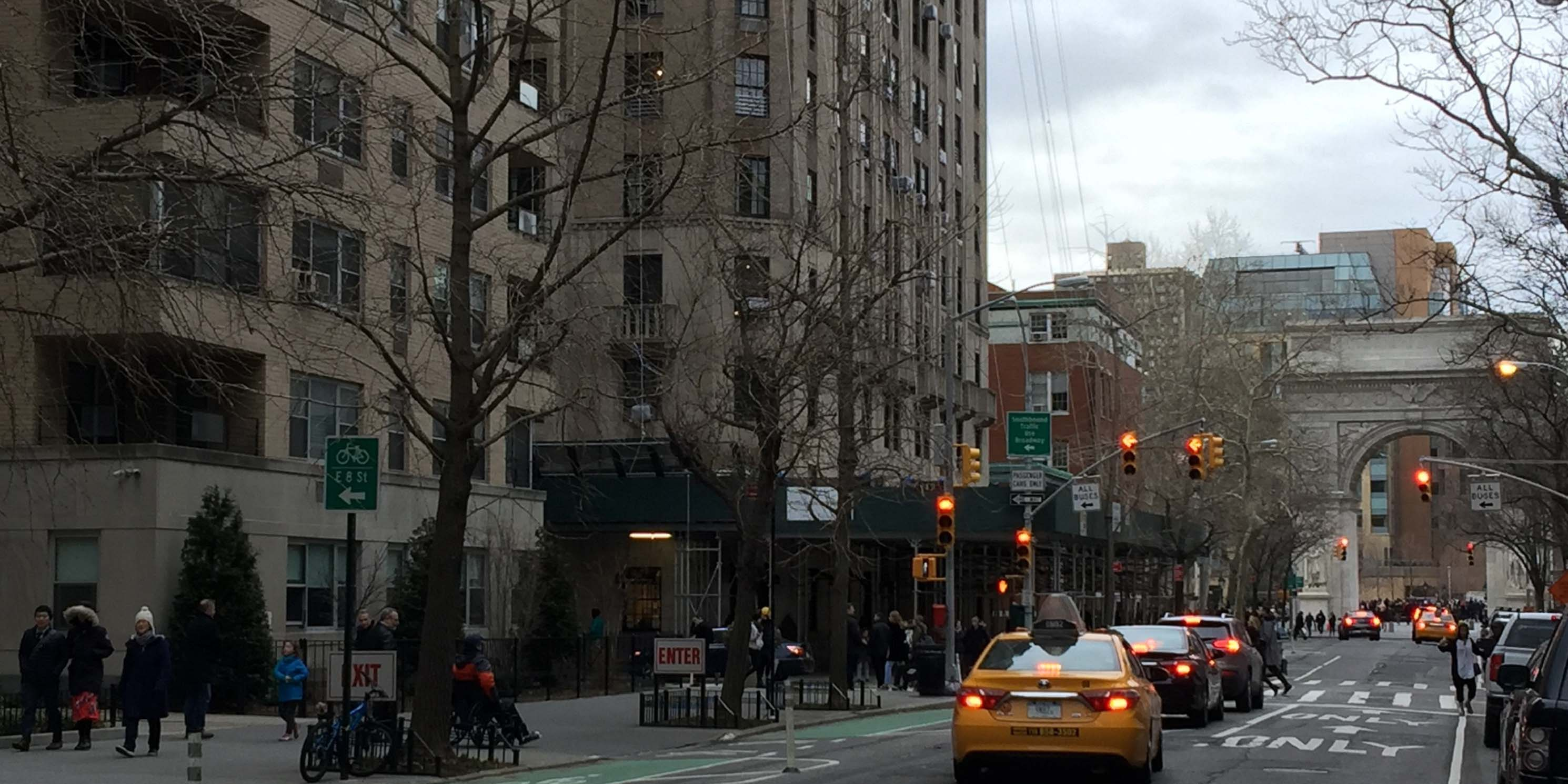 Exterior of buildings on the Upper West Side