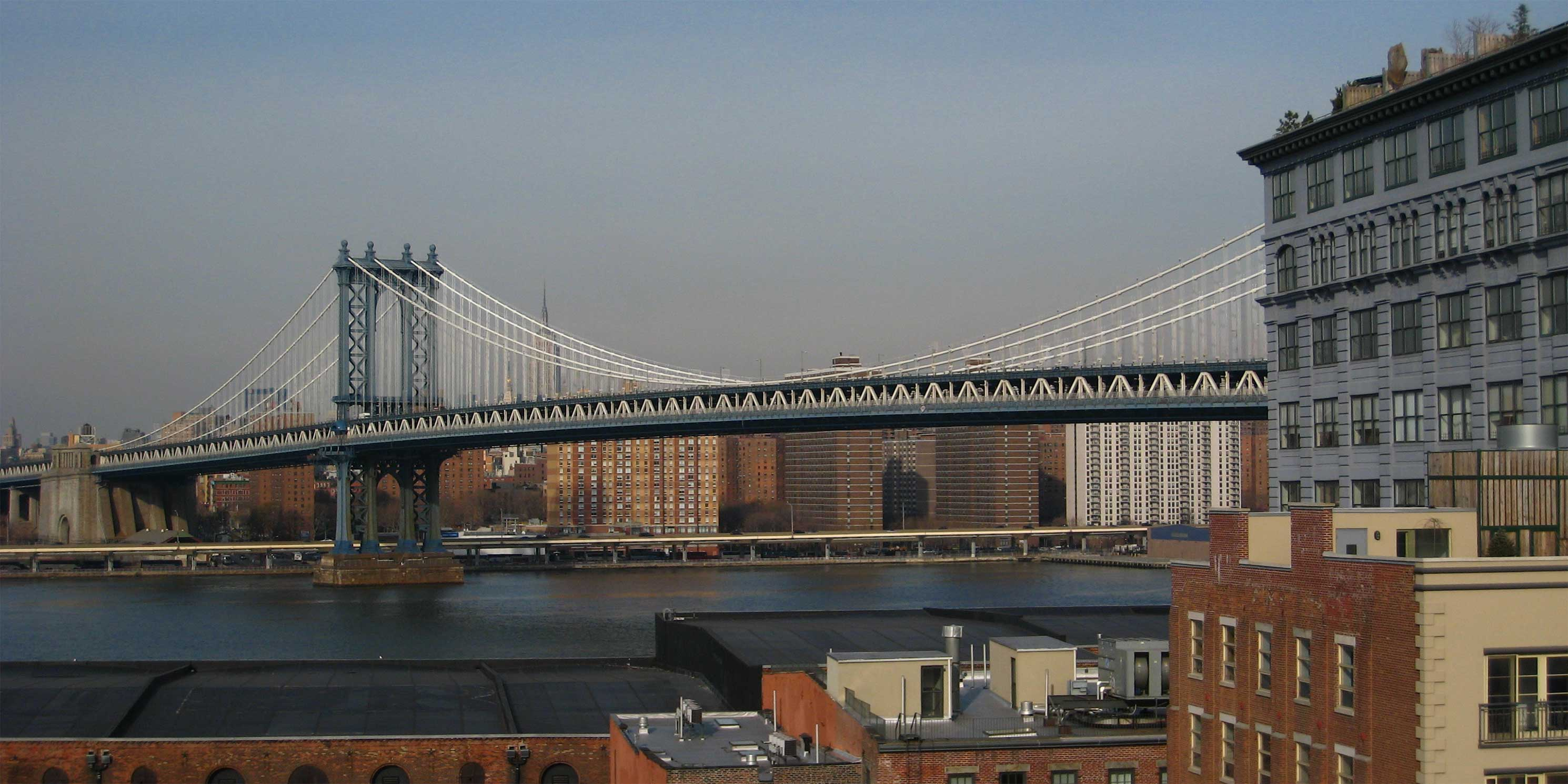 The Manhattan Bridge with DUMBO in the foreground