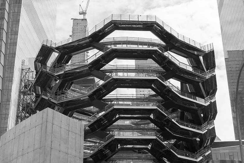 The 'Vessel' under construction in Hudson Yards