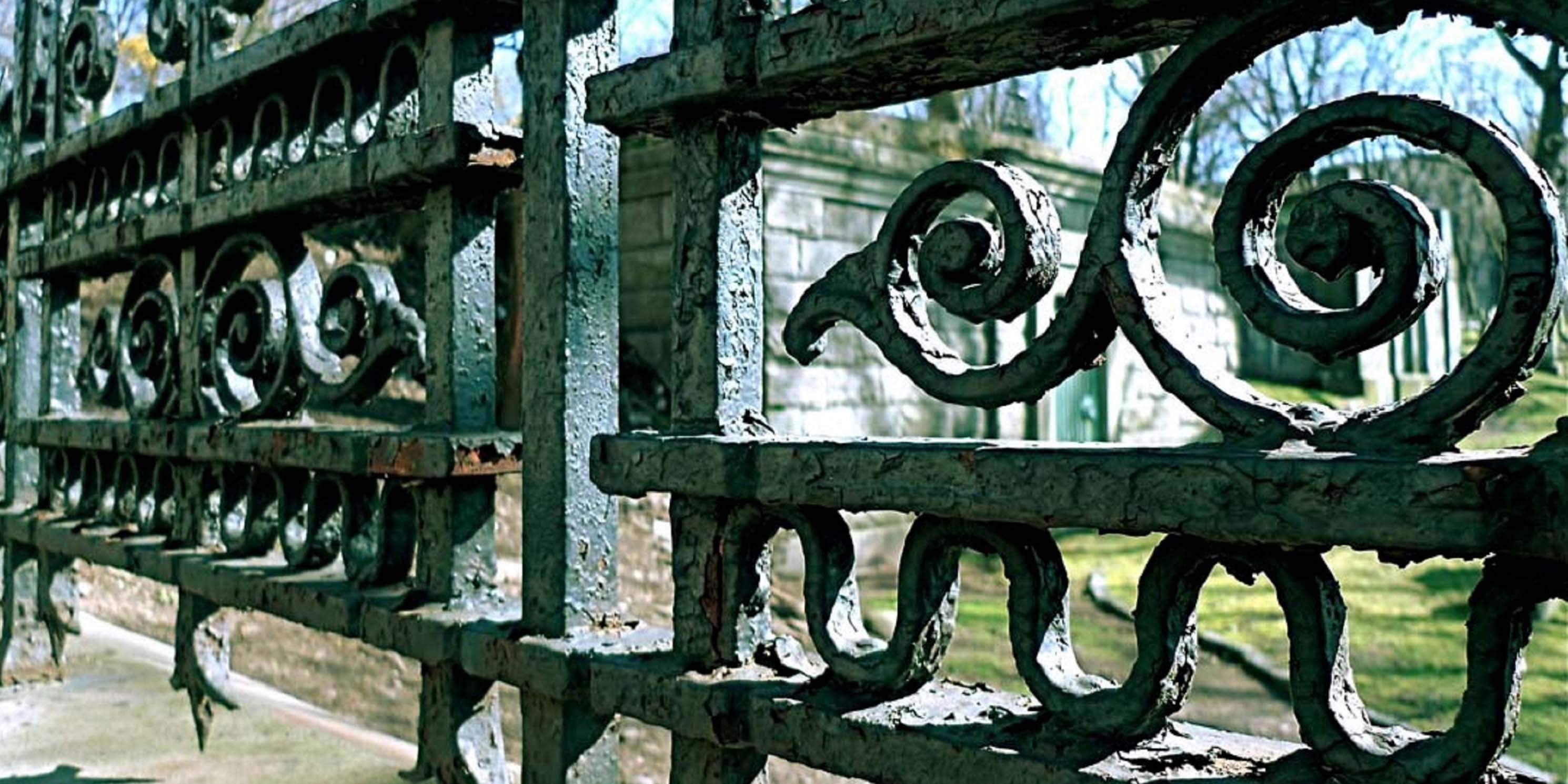 Iron fence at Trinity Church Cemetery