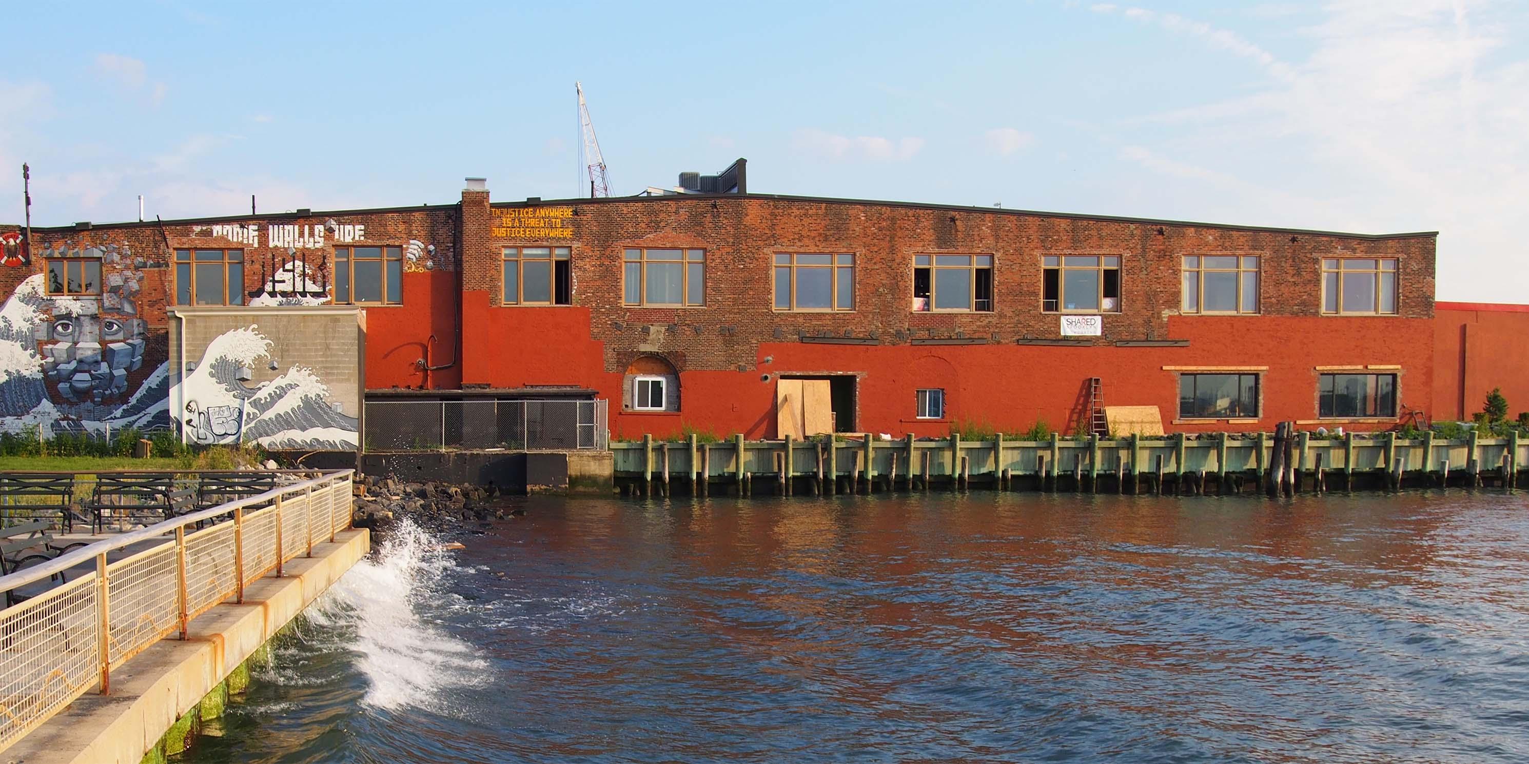 Water view of 185 Van Dyke Street Red Hook