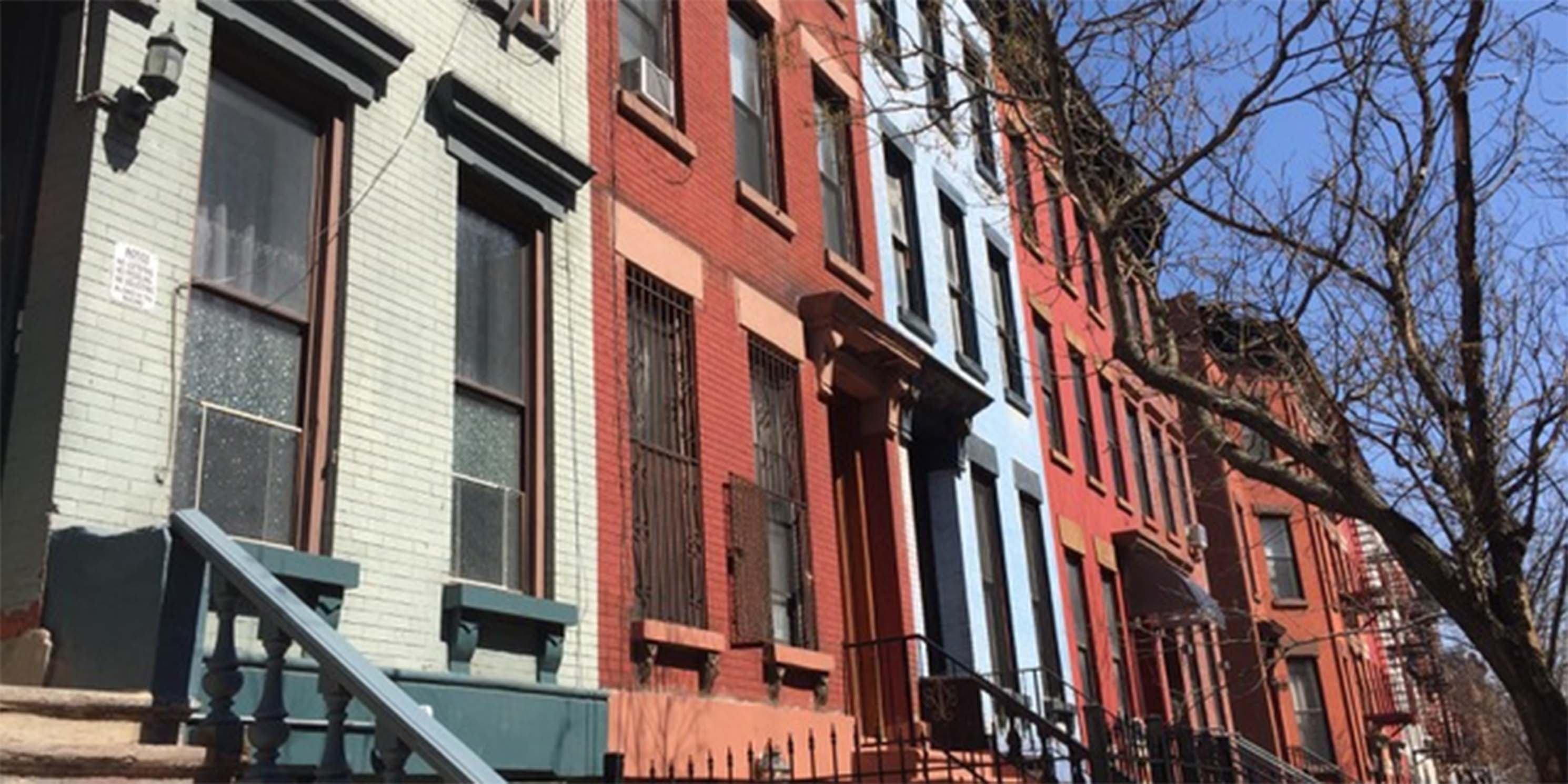 row houses on 117th Street in East Harlem