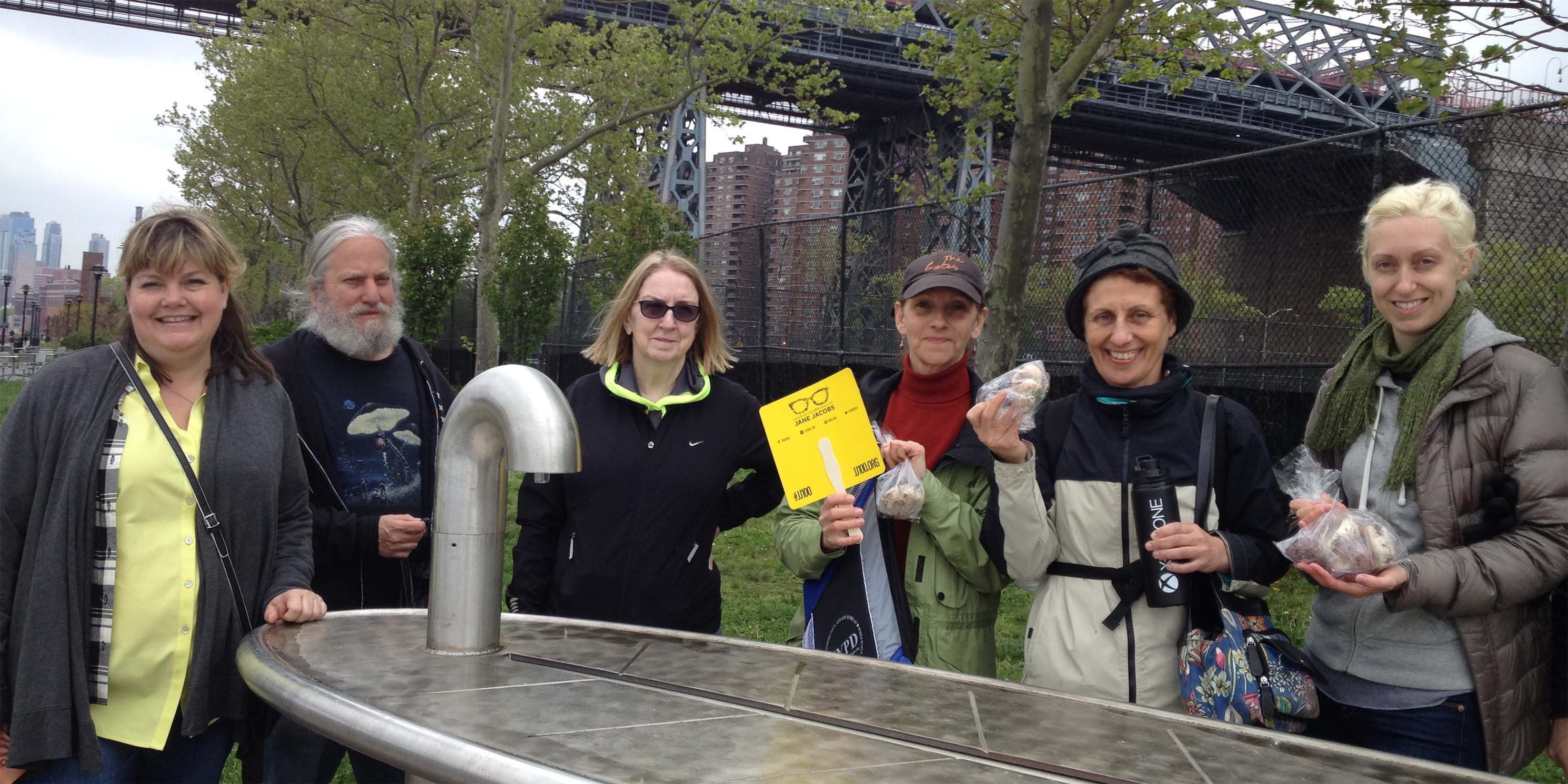Image of attendees of Jane's Walk 2018: A Wild Edible Walking Tour - East River to the Lower East Side