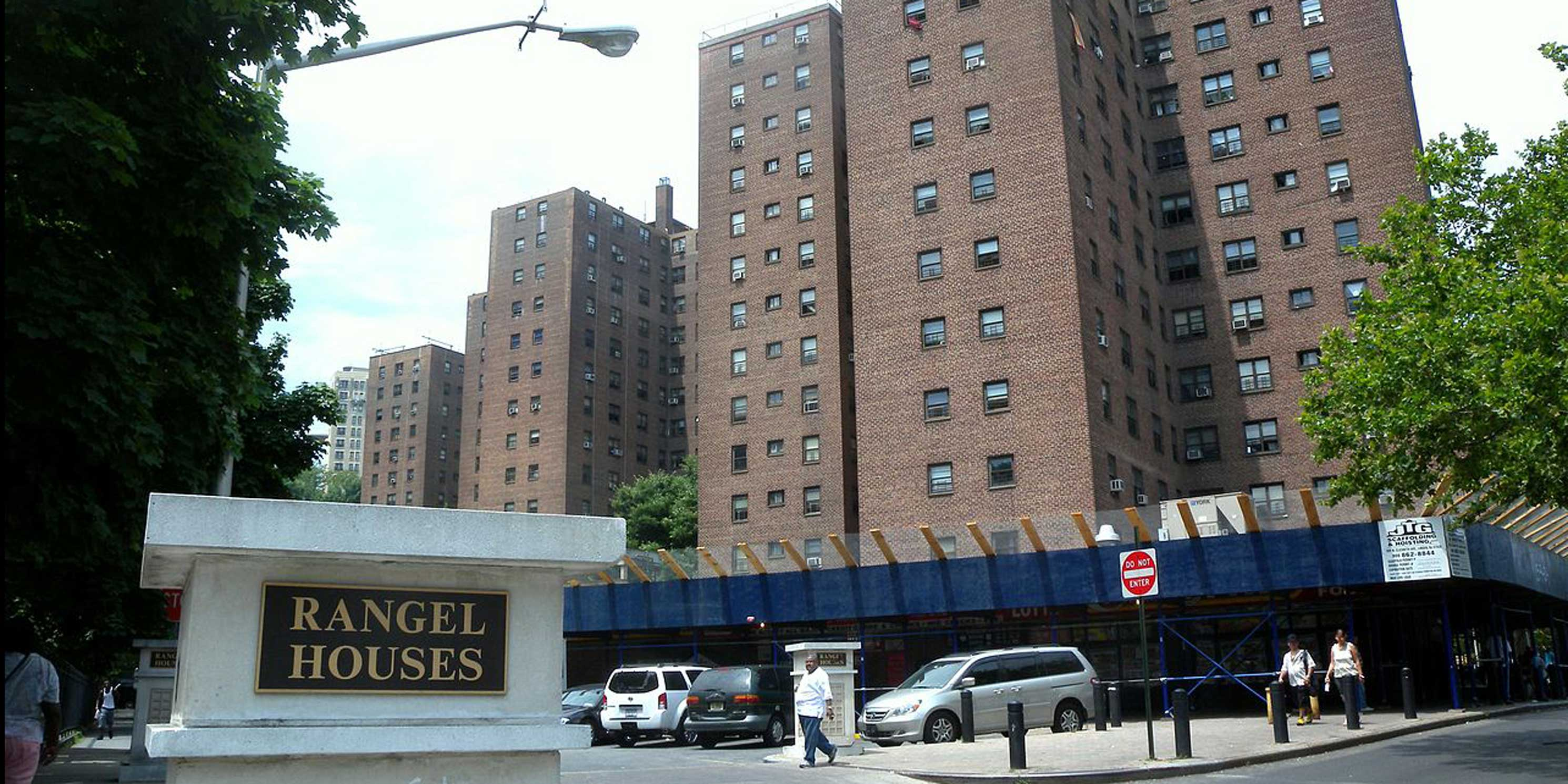 exterior of the New York City Housing Authority's Rangel Houses