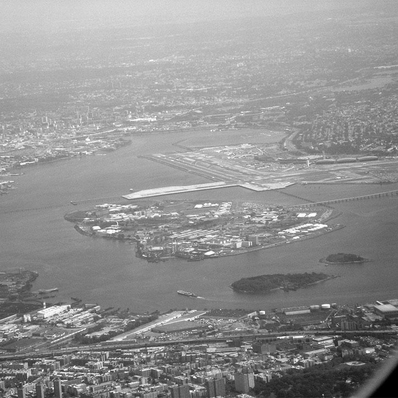 Aerial view of Riker's Island