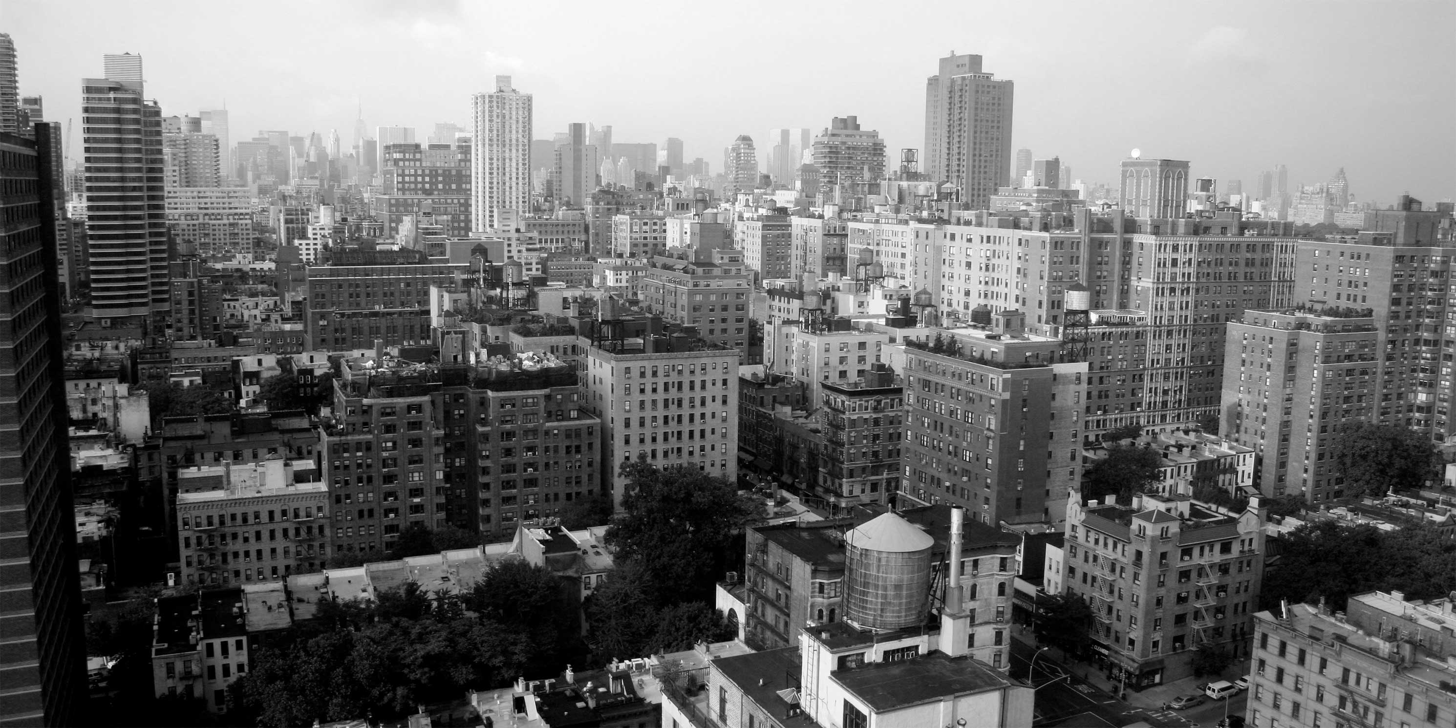 Buildings of the Upper East Side as seen from a high floor