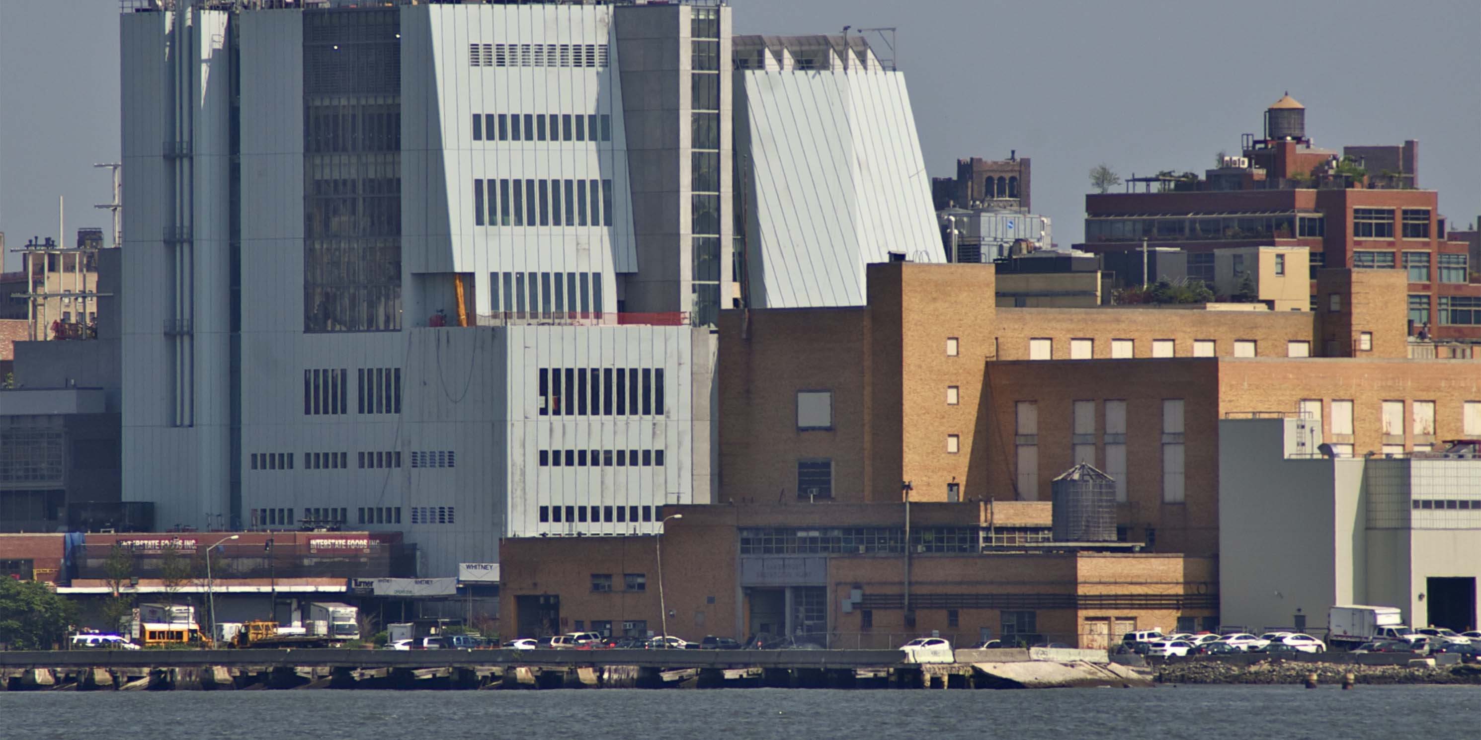 view of The Whitney Museum of Art from the Hudson River