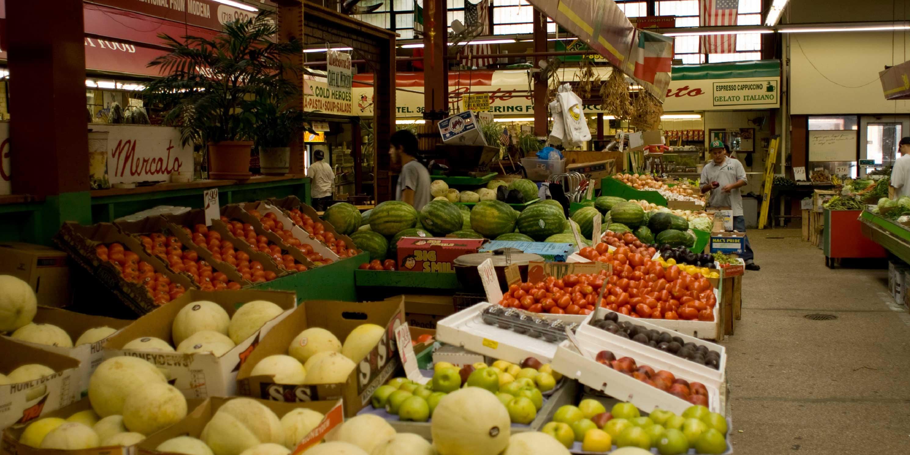 fruit at a market on Arthur Avenue