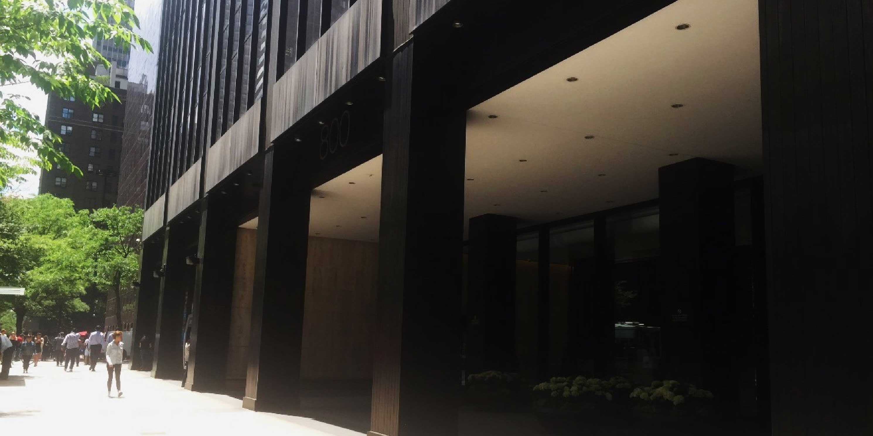 the public space outside 800 Third Avenue