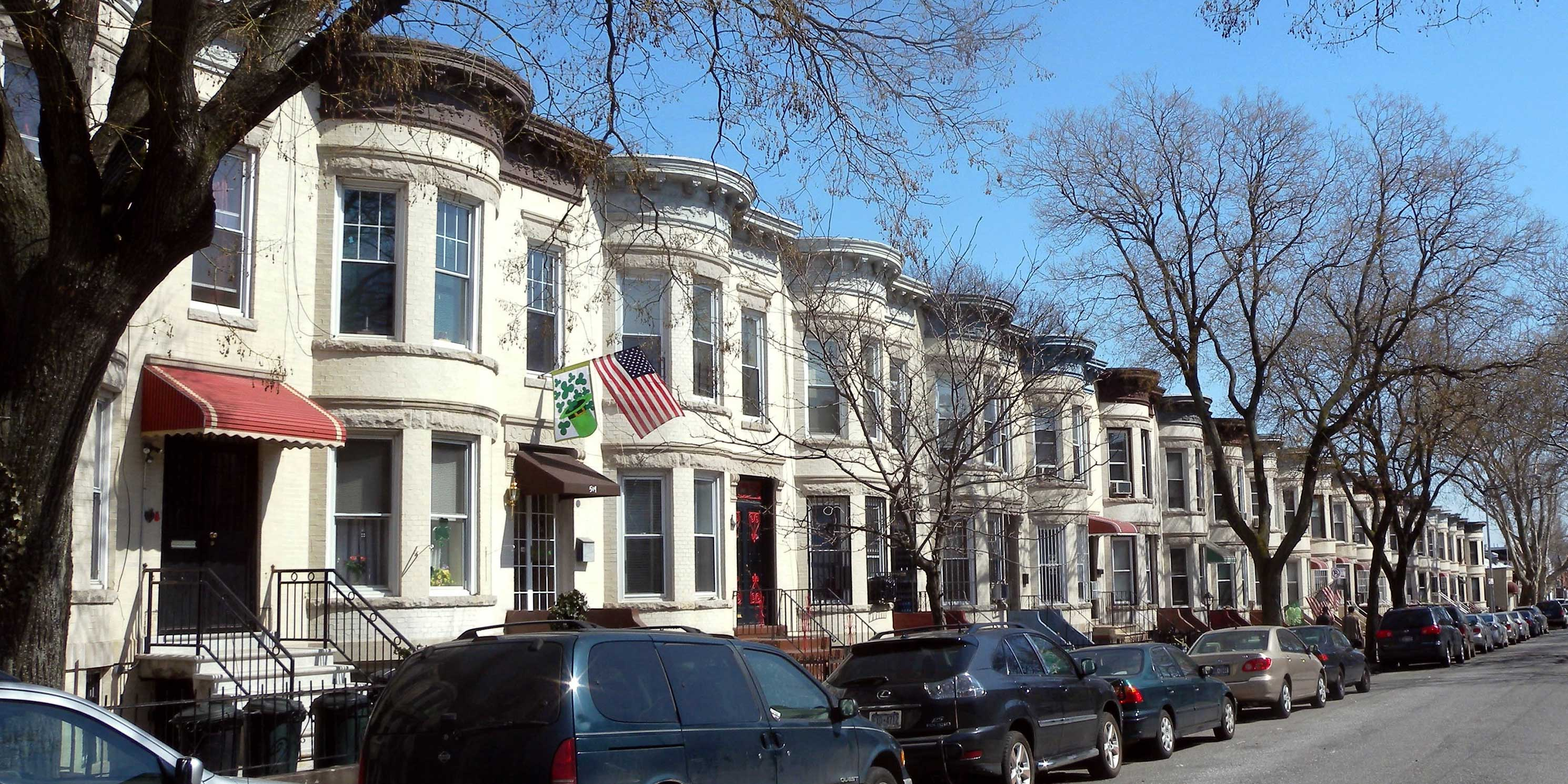 rowhouses on 62nd Street in Sunset Park, Brooklyn