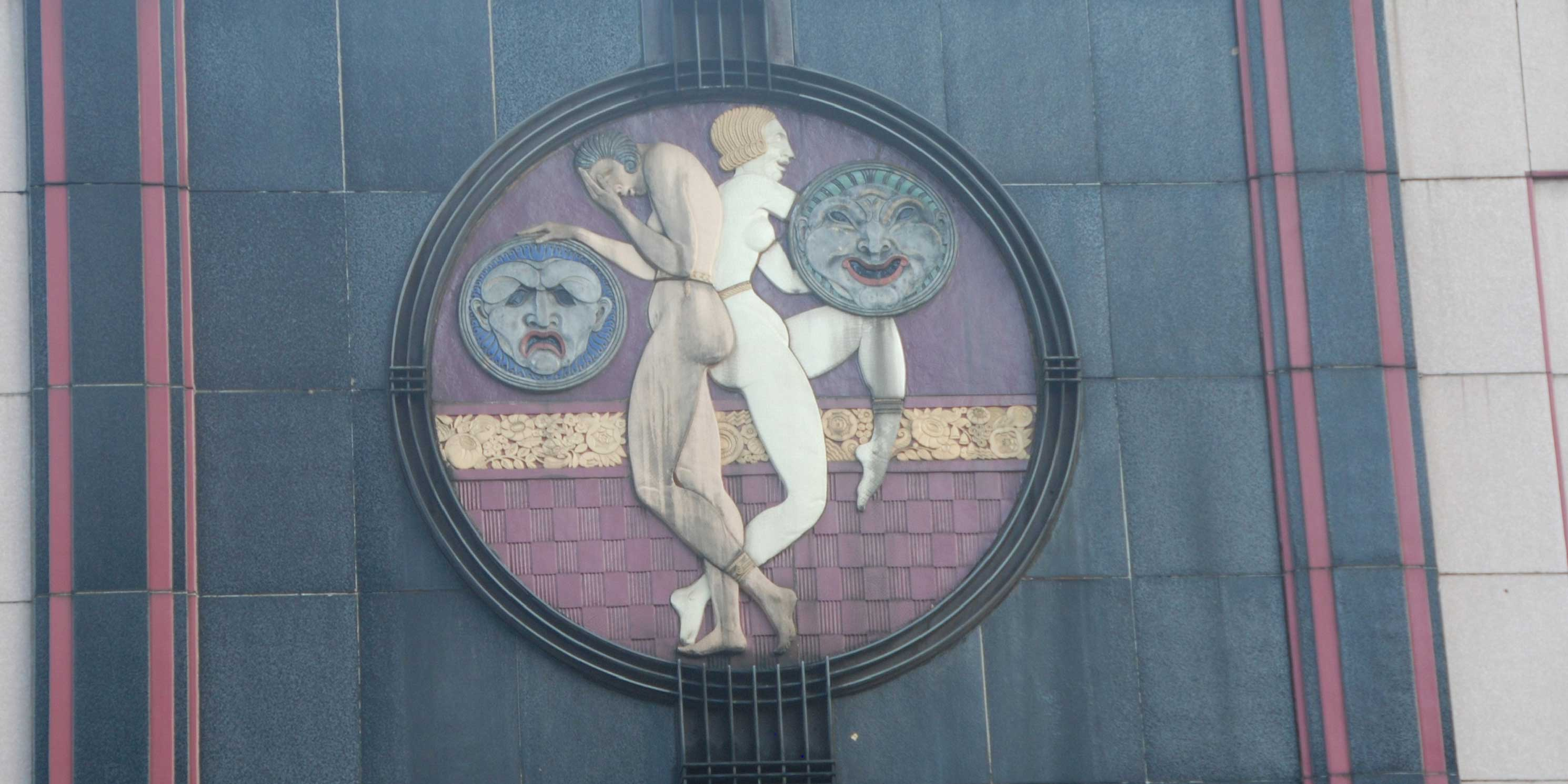 artwork on the exterior of 2624 Broadway, a former theater in Midtown