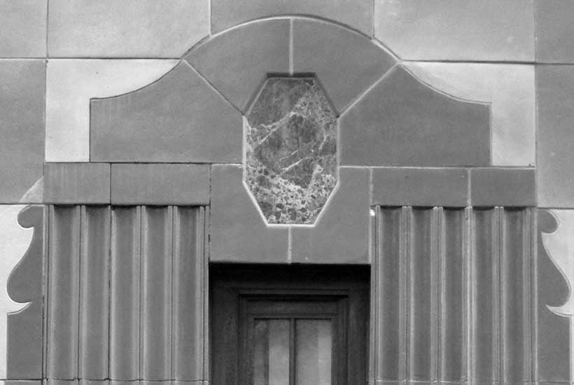 handsome arched window detail on 240 East 79th Street in Manhattan
