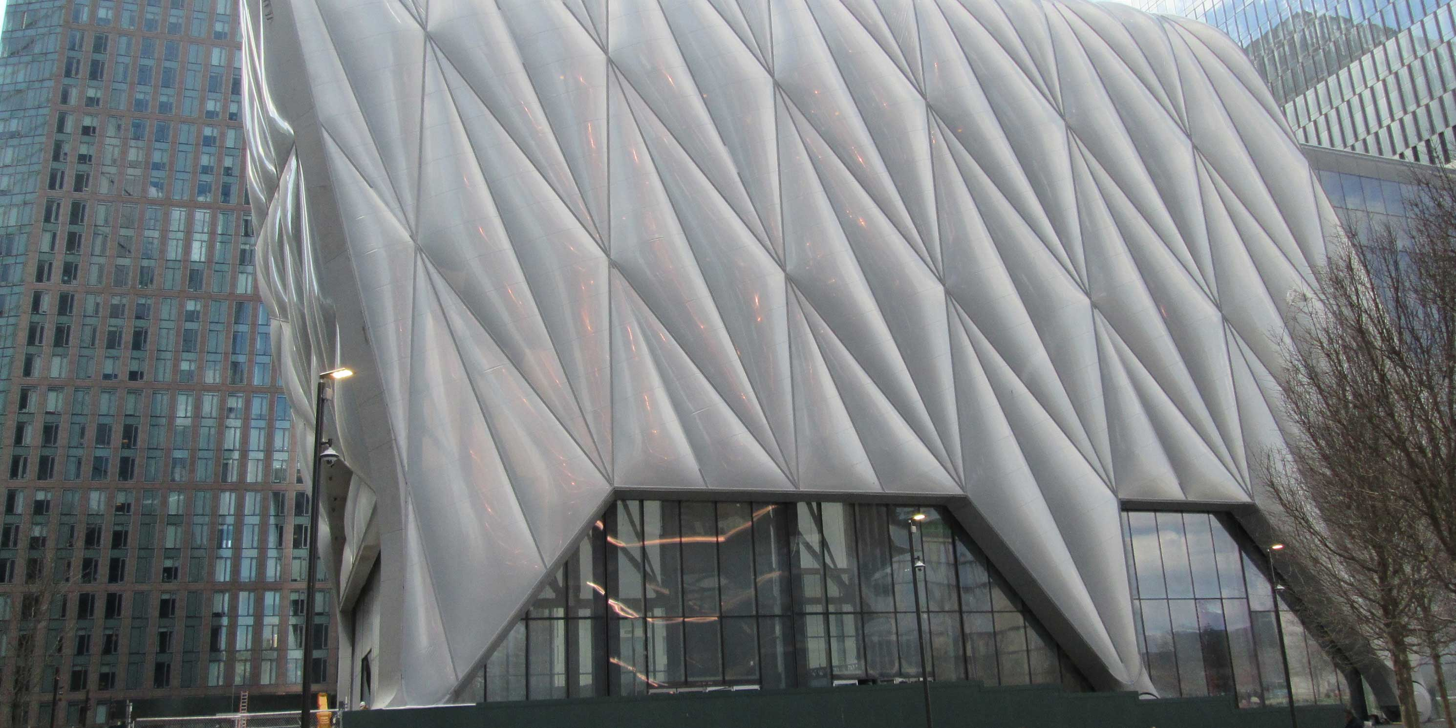 exterior of The Shed at Hudson Yards