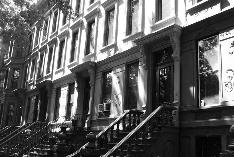 brownstones in Bedford–Stuyvesant, Brooklyn
