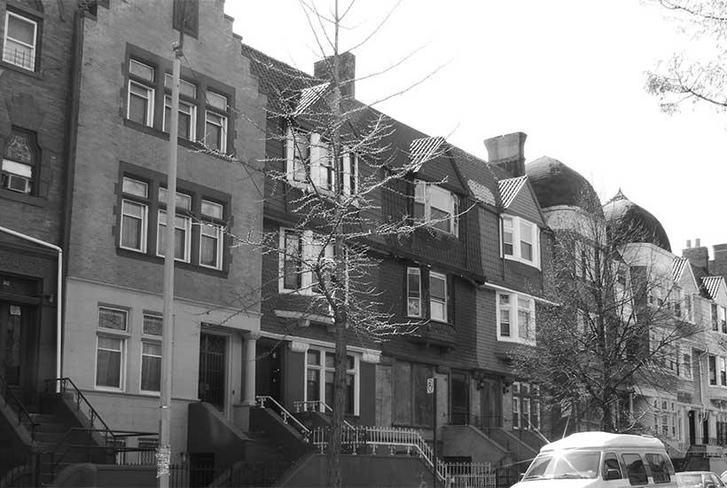 rowhouses in Crown Heights, Brooklyn