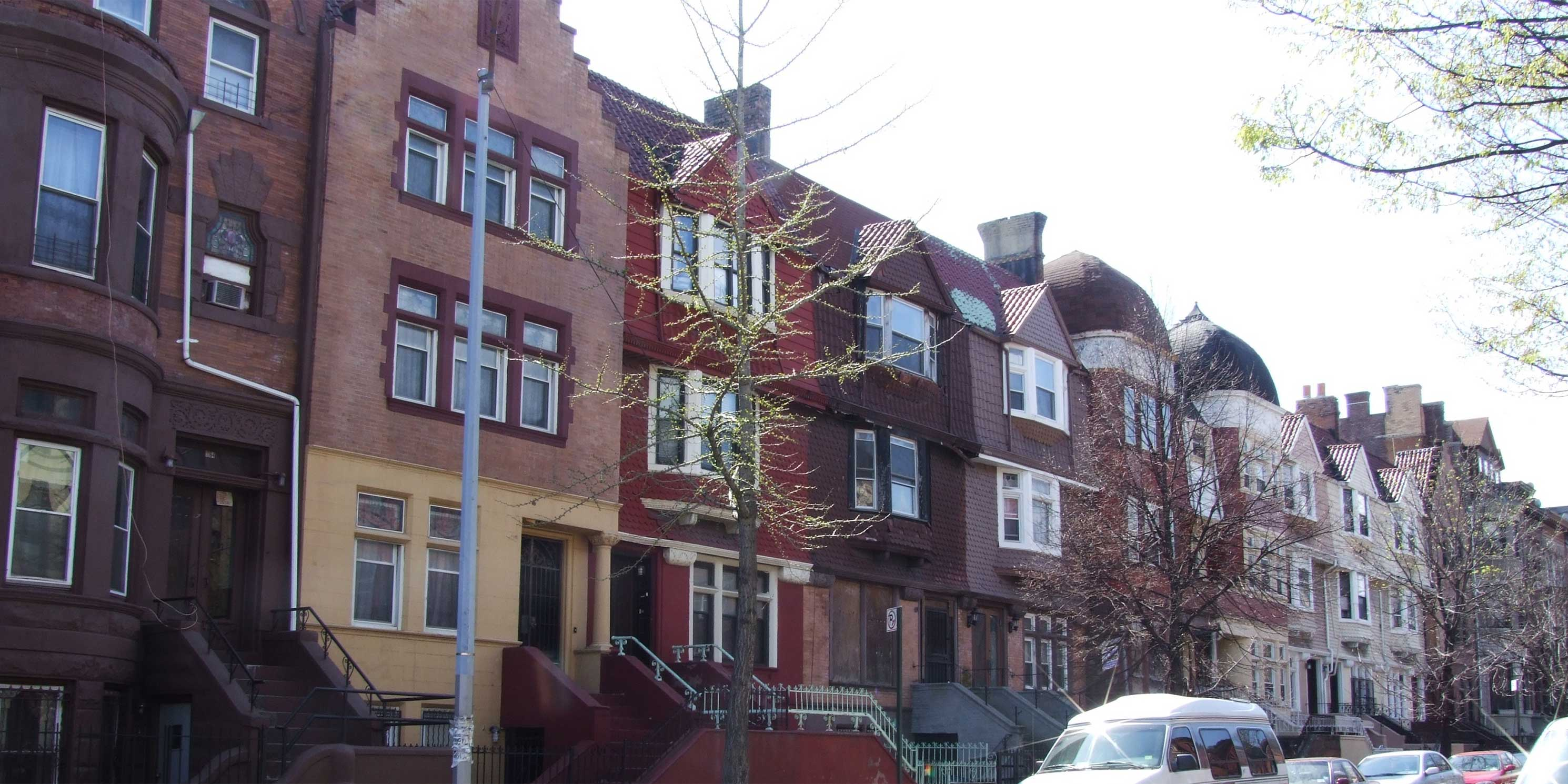 rowhouses in Crown Heights, Brooklyn
