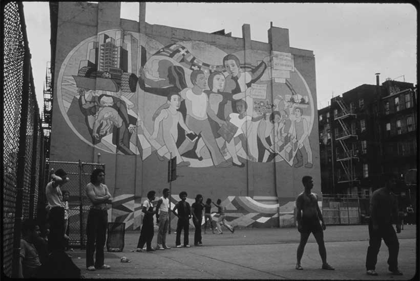 mural in Hell's Kitchen, 1974