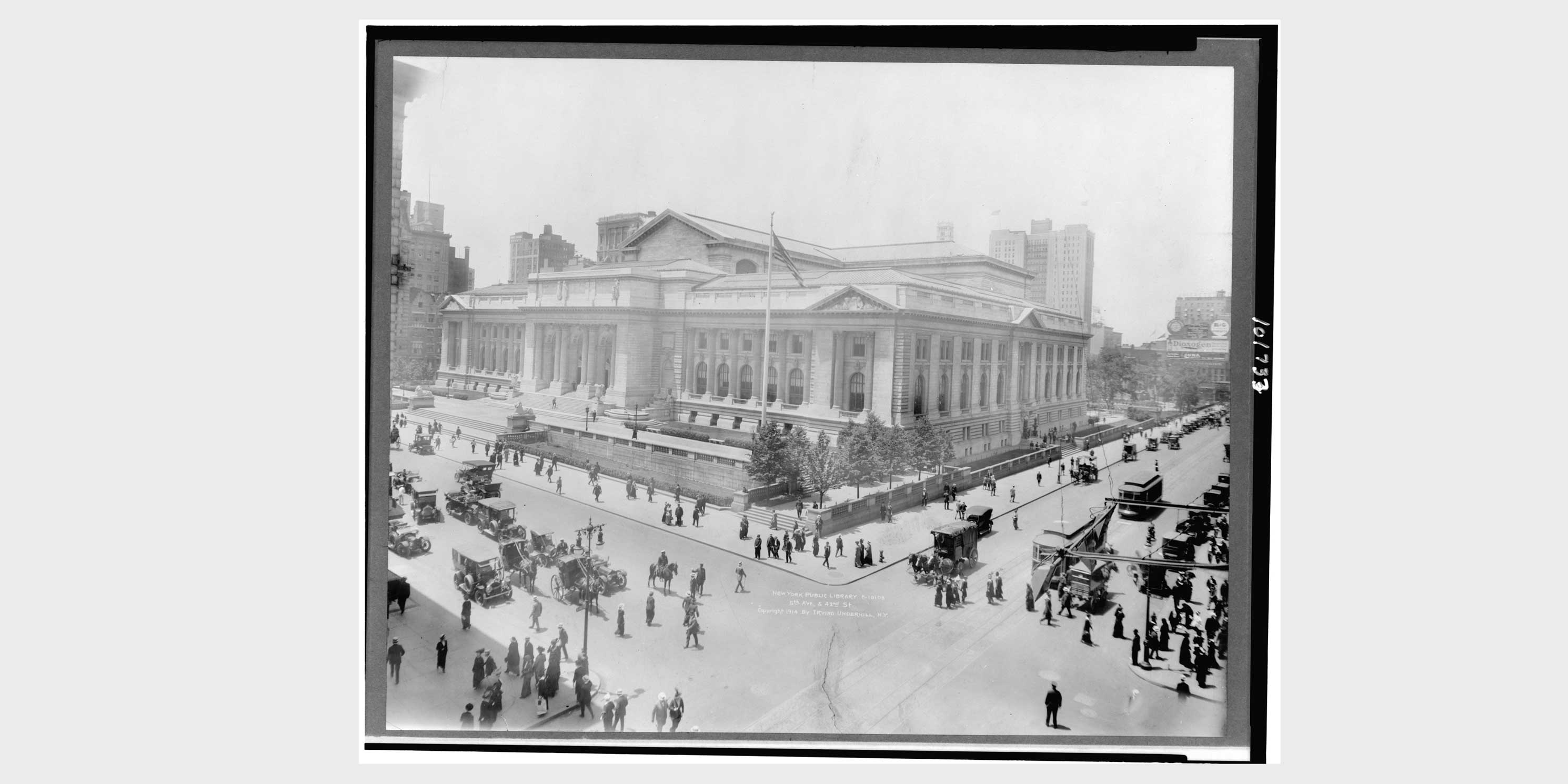 exterior, Main Branch of the New York Public Library, 1914