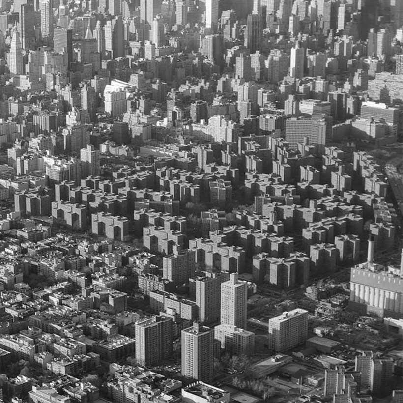 aerial of Stuyvesant Town and Peter Cooper Village in Manhattan