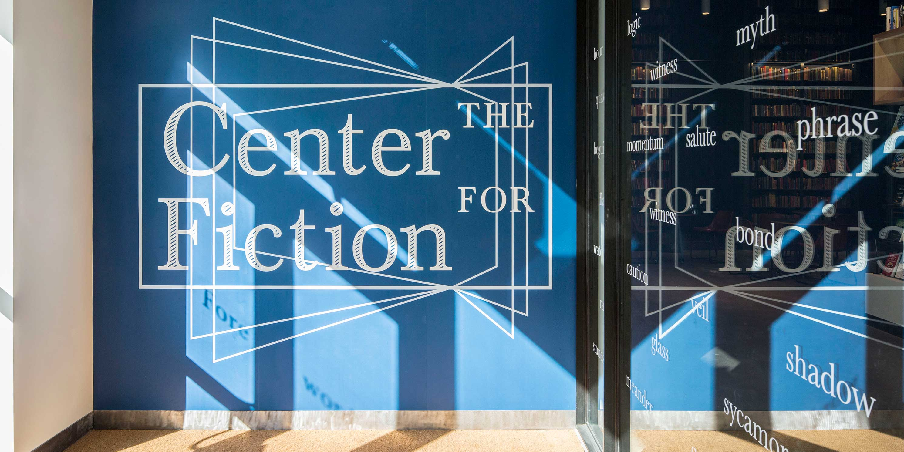 entrance to the Center for Fiction in Brooklyn, New York