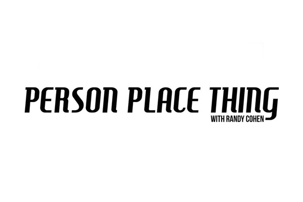 logo for Person Place Thing with Randy Cohen