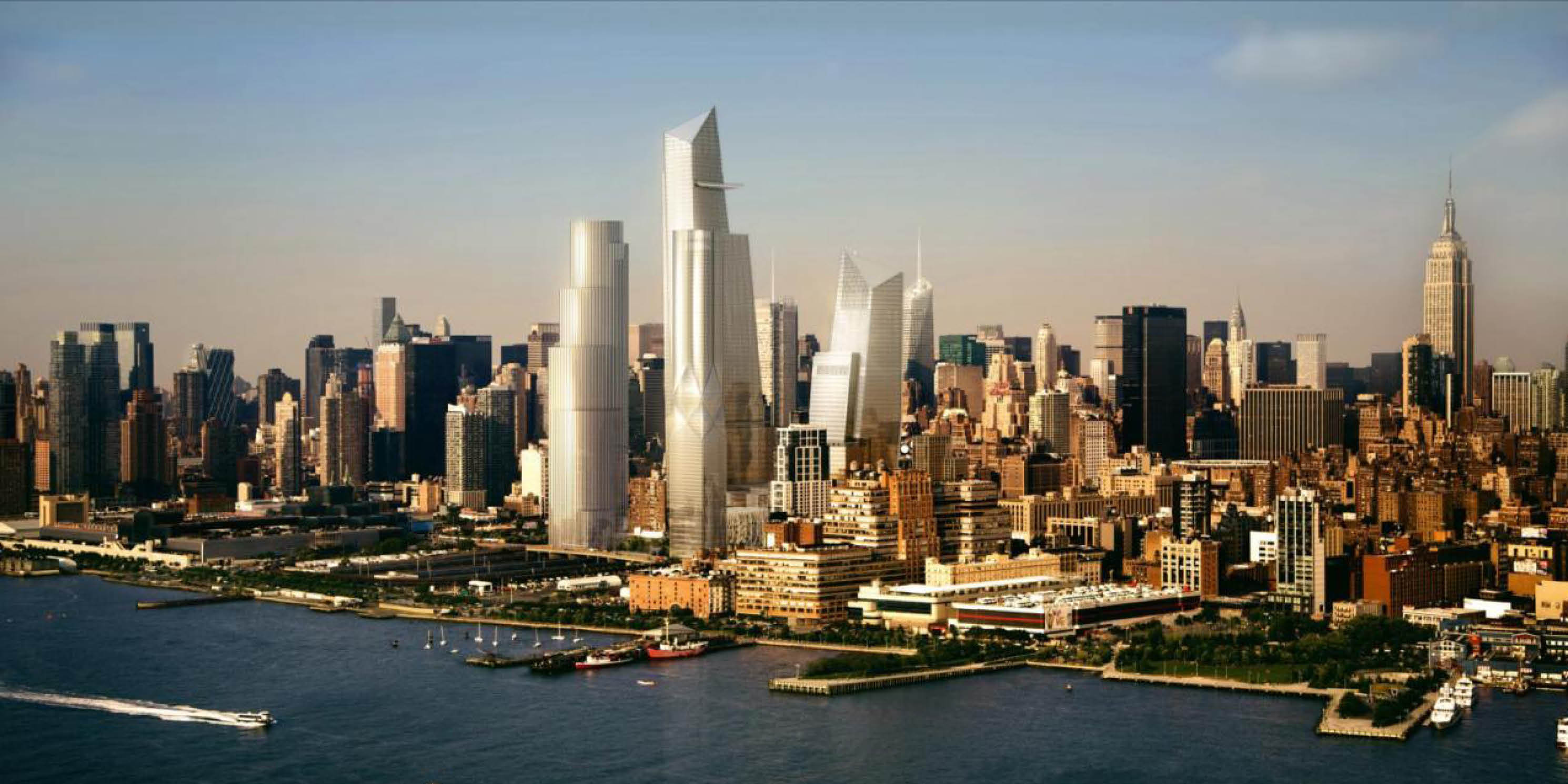 rendering of the skyline at Hudson Yards