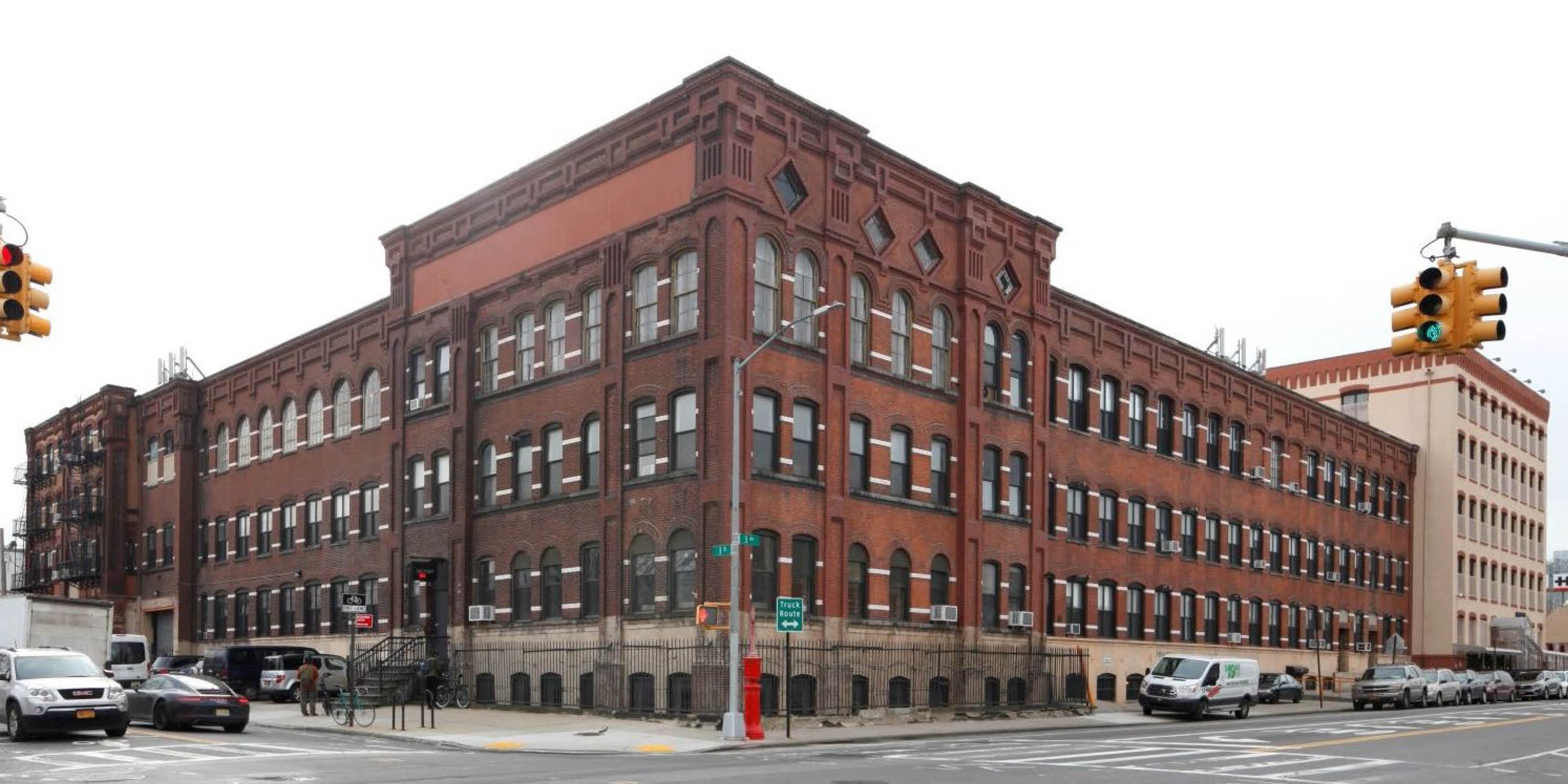 exterior of the Somers Brothers Tinware Factory in Gowanus, Brooklyn