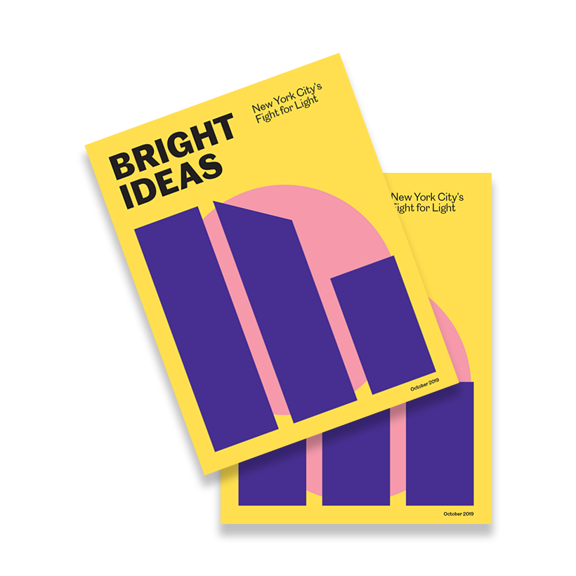 report cover for the 2019 Bright Ideas report by the Municipal Art Society of New York