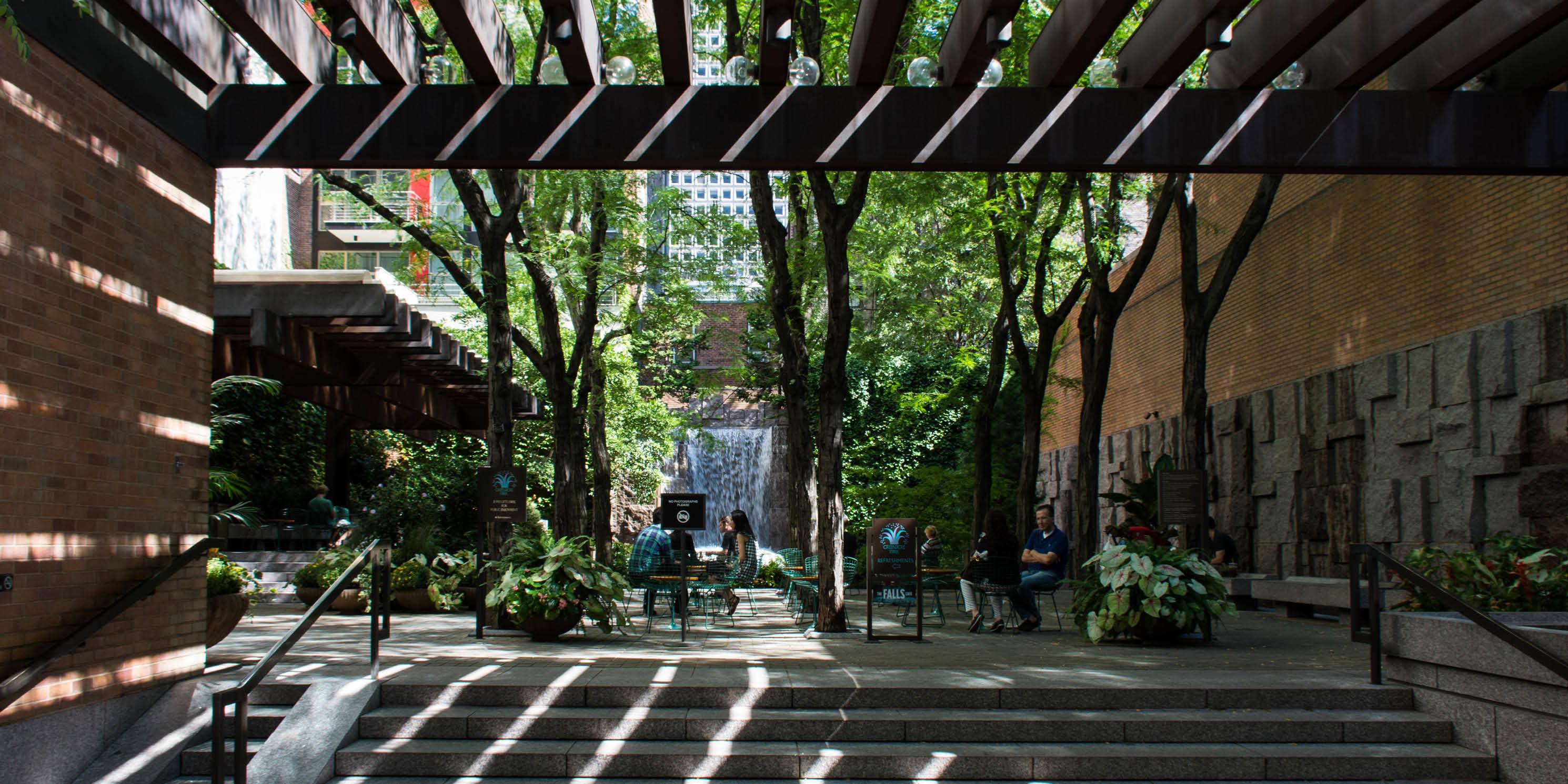 Greenacre Park in midtown Manhattan