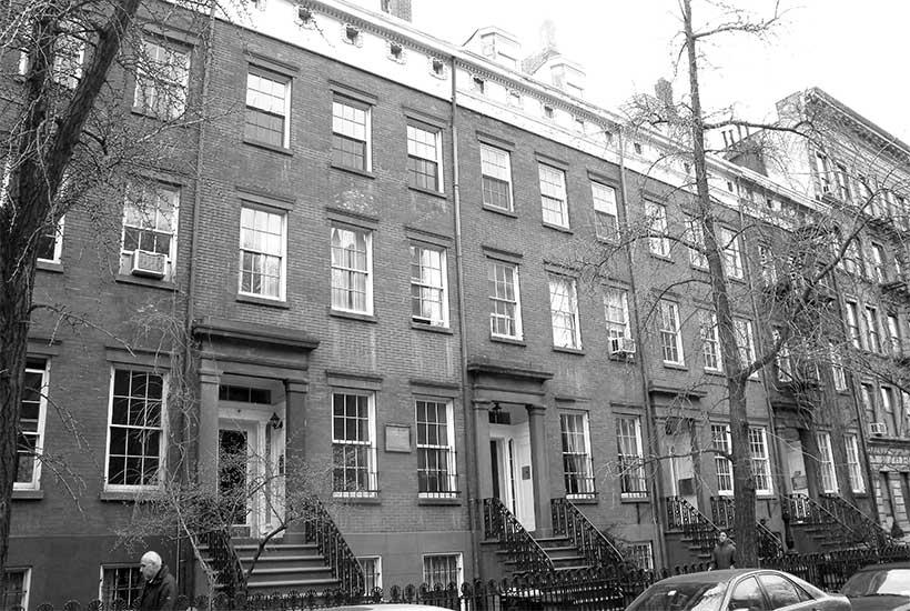 row houses on Cushman Row in Chelsea