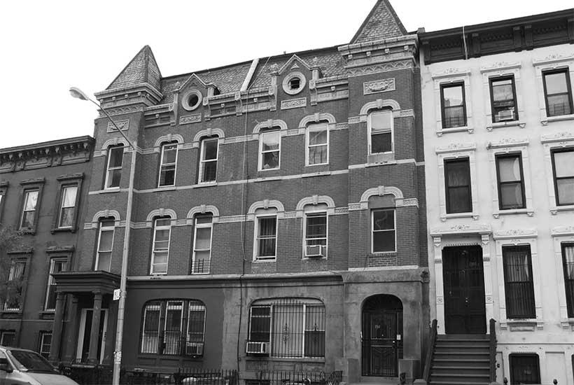 row houses in the Bedford Stuyvesant neighborhood of Brooklyn