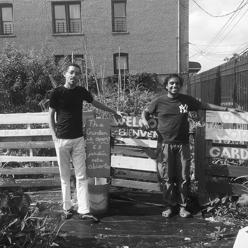Volunteers at the Morning Glory Community Garden in the Bronx