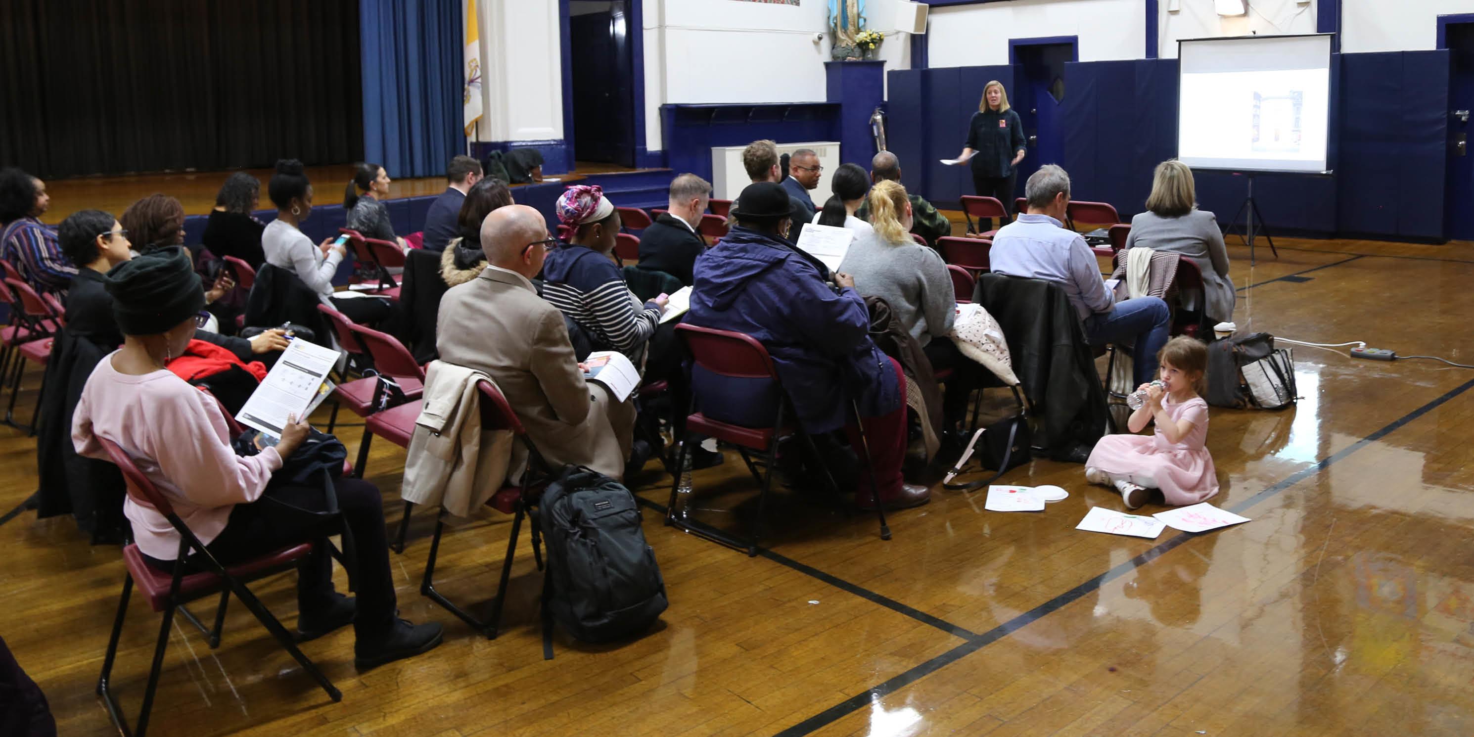 Audience members at a Livable Neighborhoods Program workshop in West Harlem.