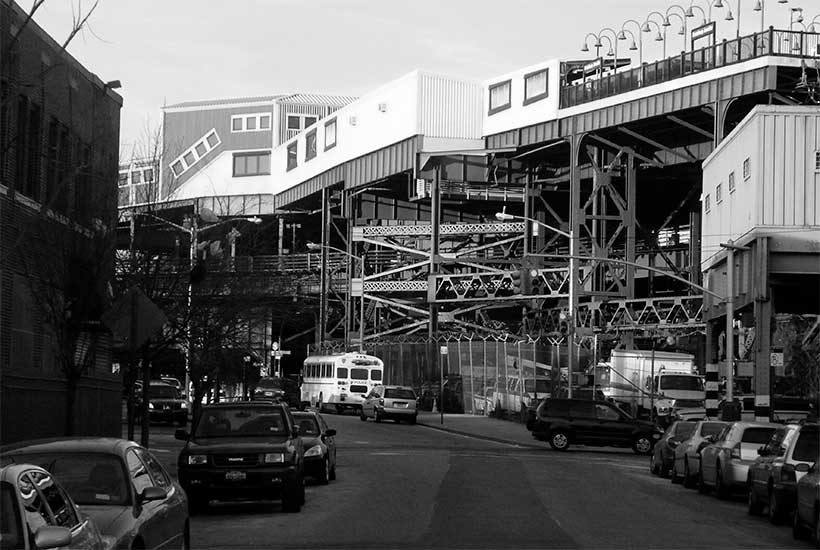 Broadway Junction with elevated train platform