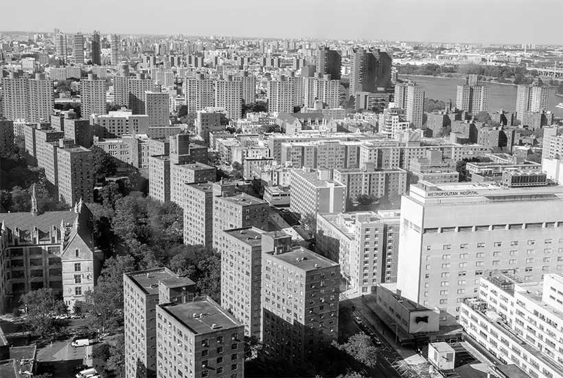 skyline in East Harlem