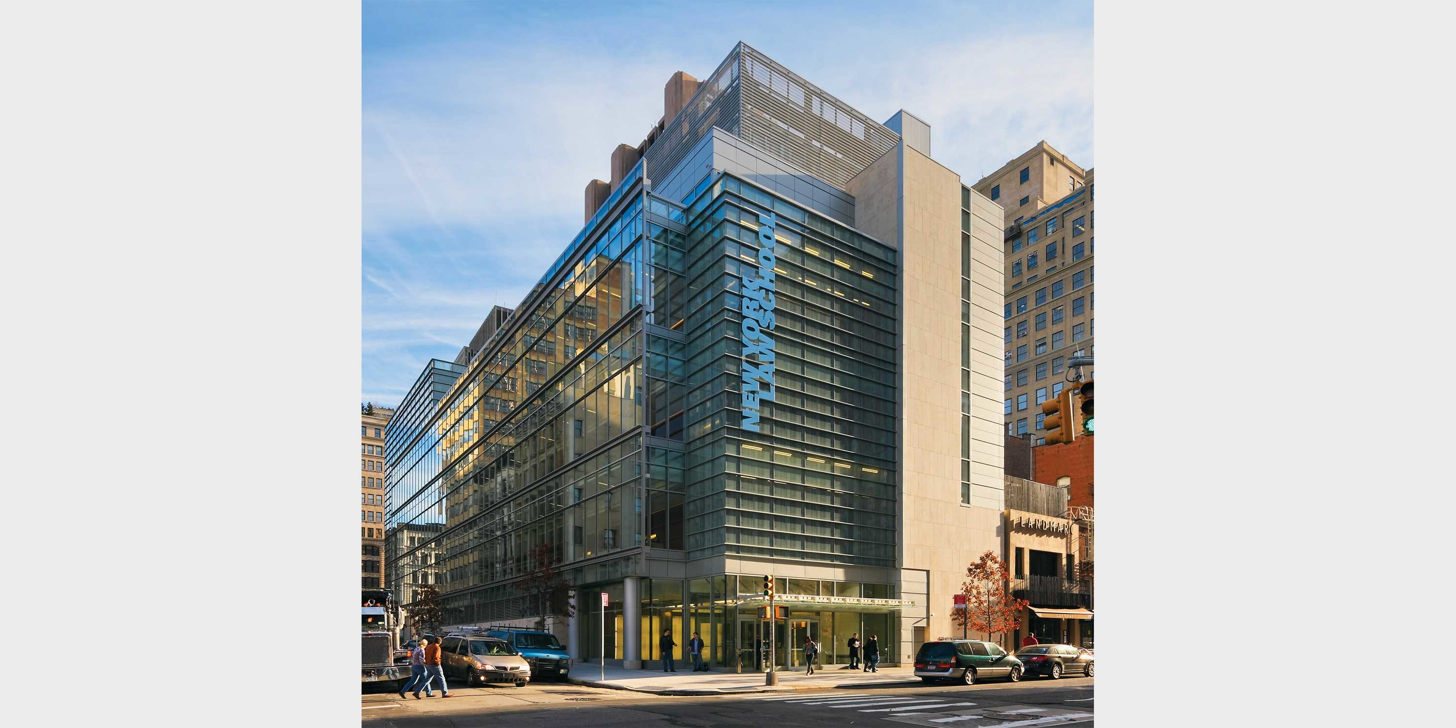 exterior of the New York Law School building in Tribeca