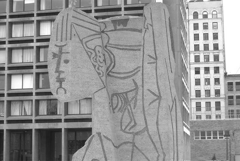 Sylvette Picasso sculpture in Greenwich Village