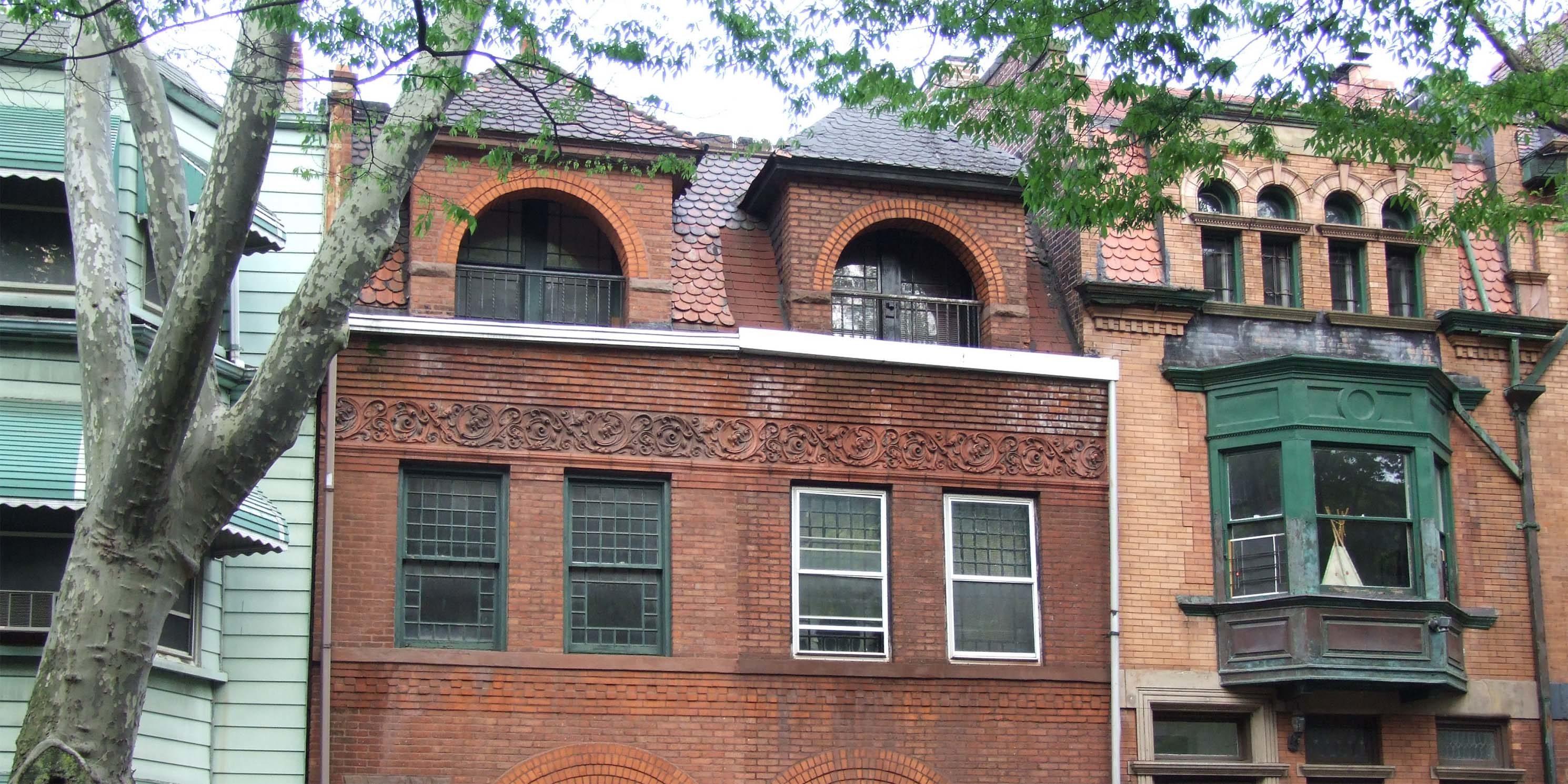 buildings in Saint James Place, Clinton Hill, Brooklyn