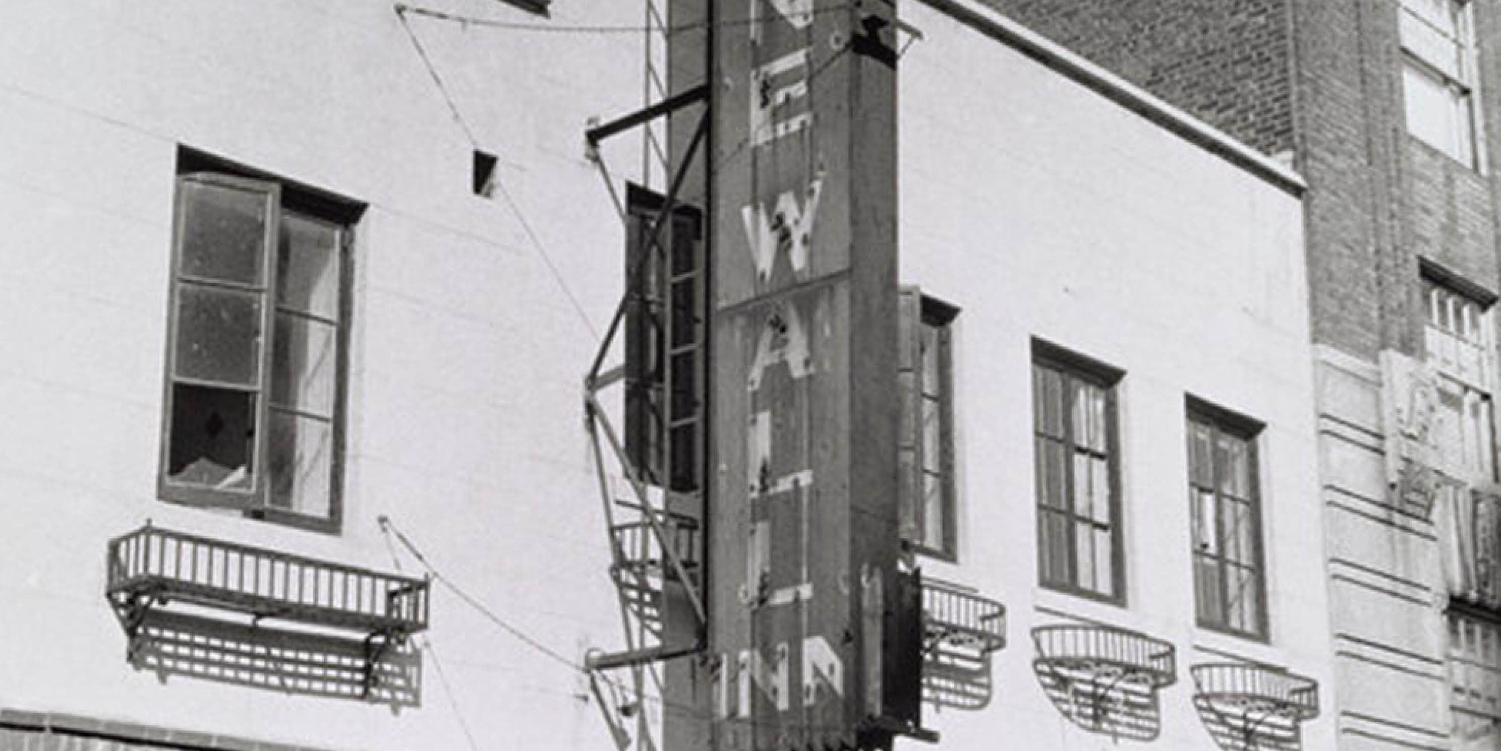 archival photo of the Stonewall Inn sign