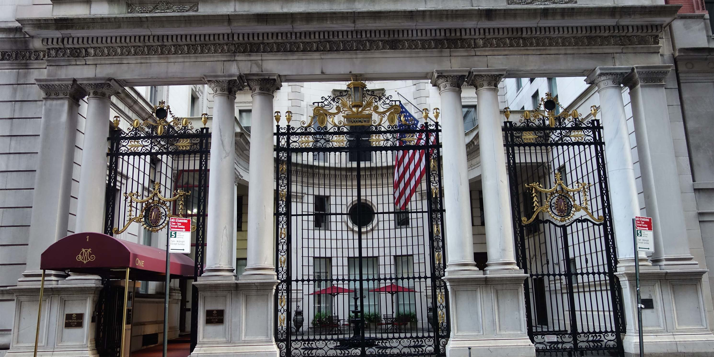 entrance to the Metropolitan Club