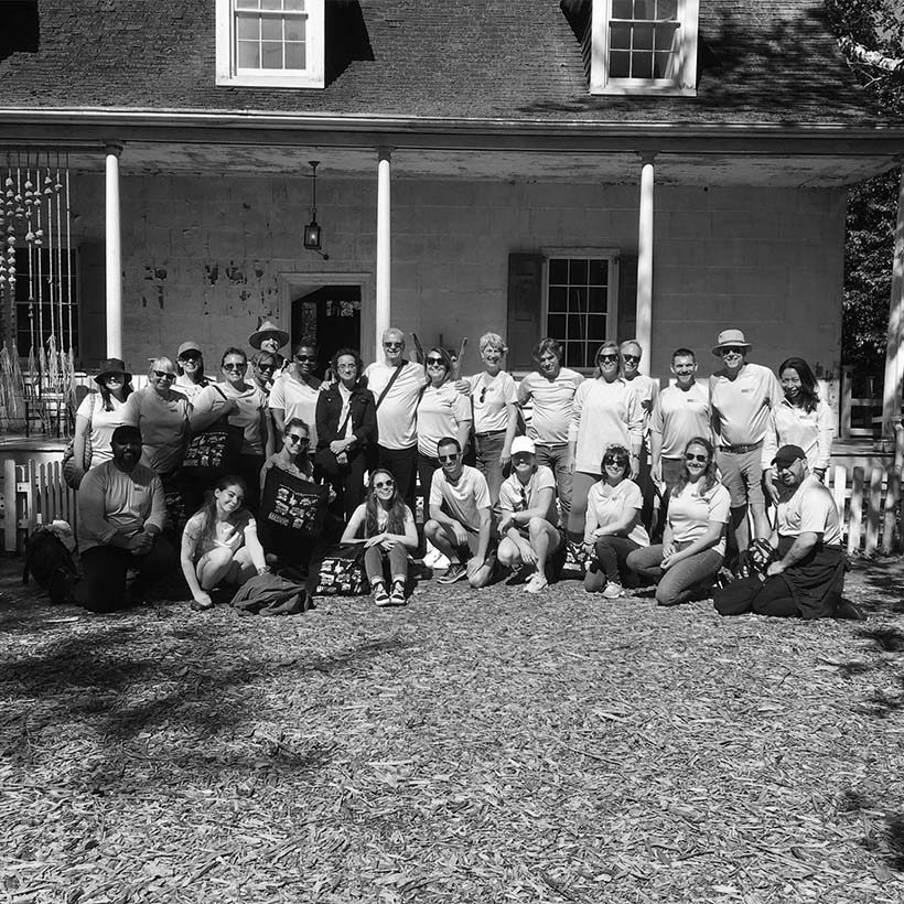 Municipal Art Society of New York staff group photo in front of Lefferts House in Prospect Park