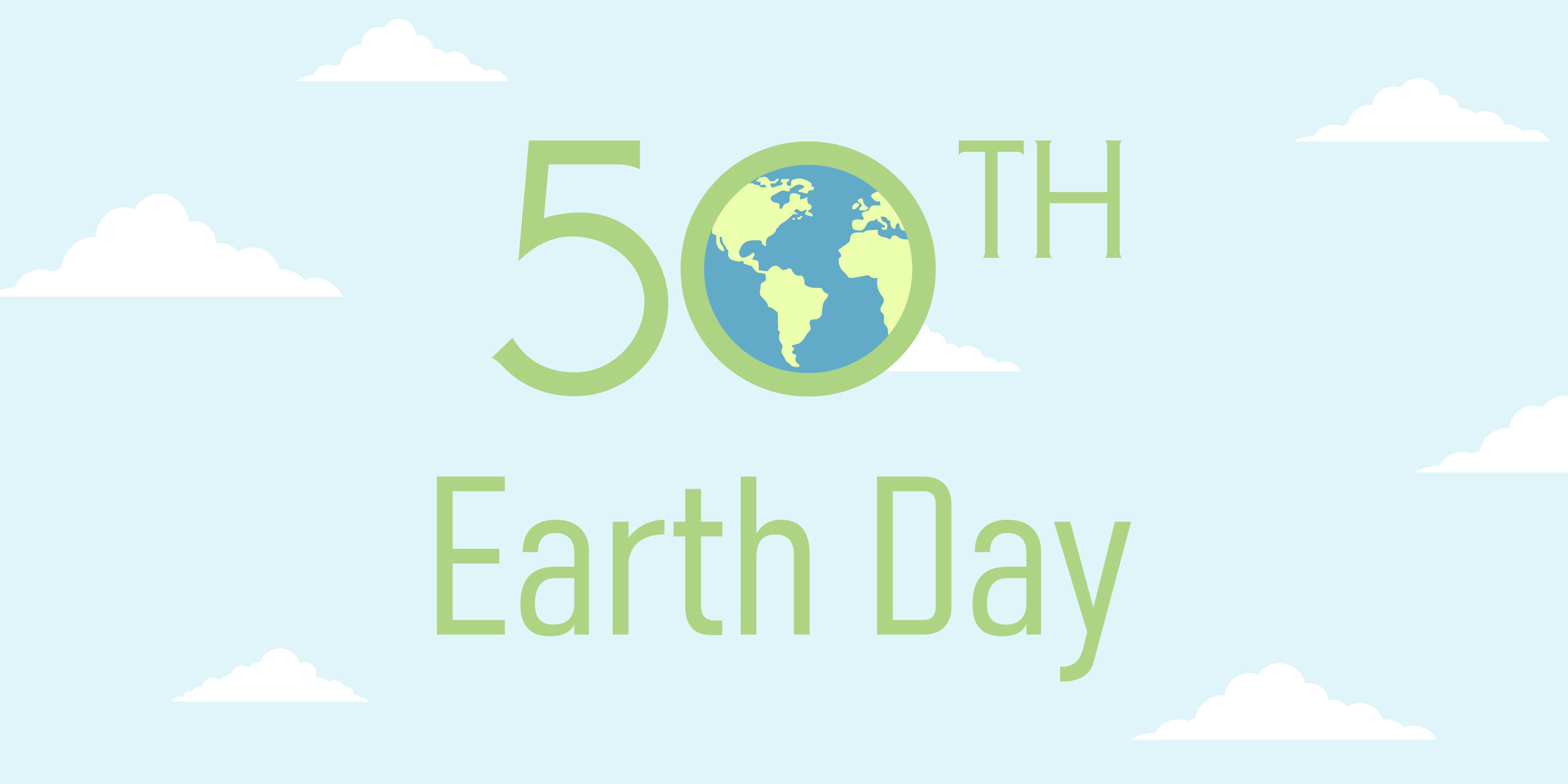 graphic advertisement for the 50th Anniversary of Earth Day