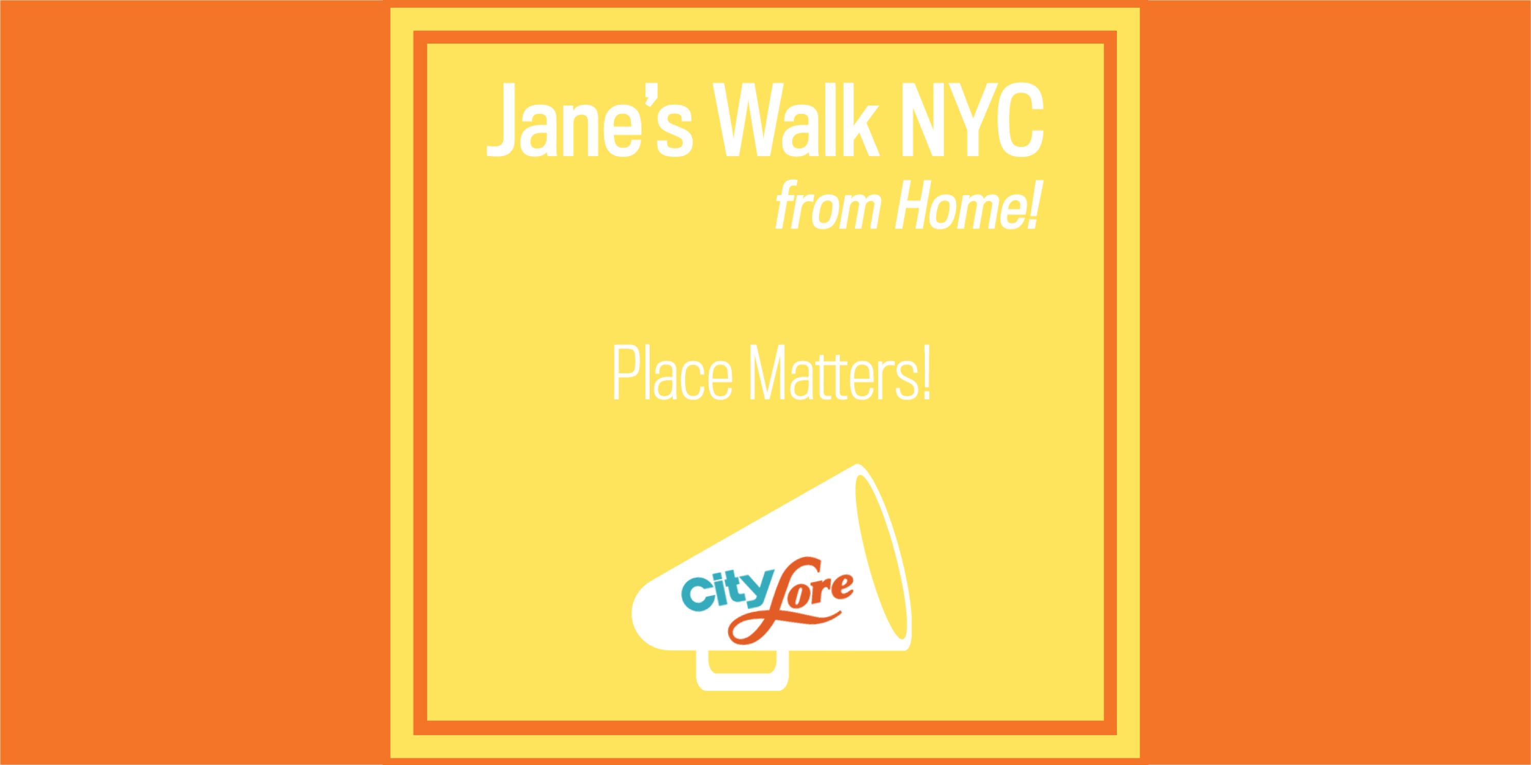 Advertisement for Jane's Walk 2020, Day 2 activities