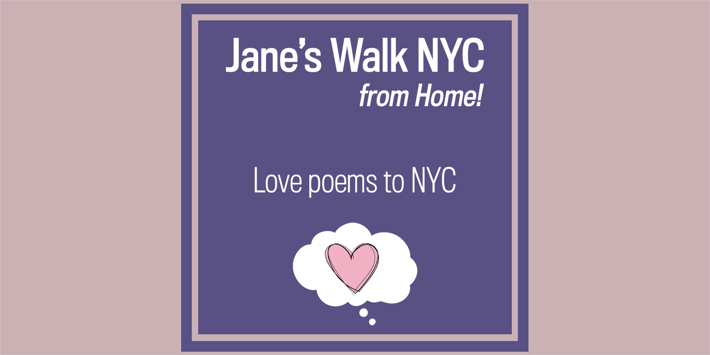 Advertisement for Jane's Walk 2020, Day 4 activities