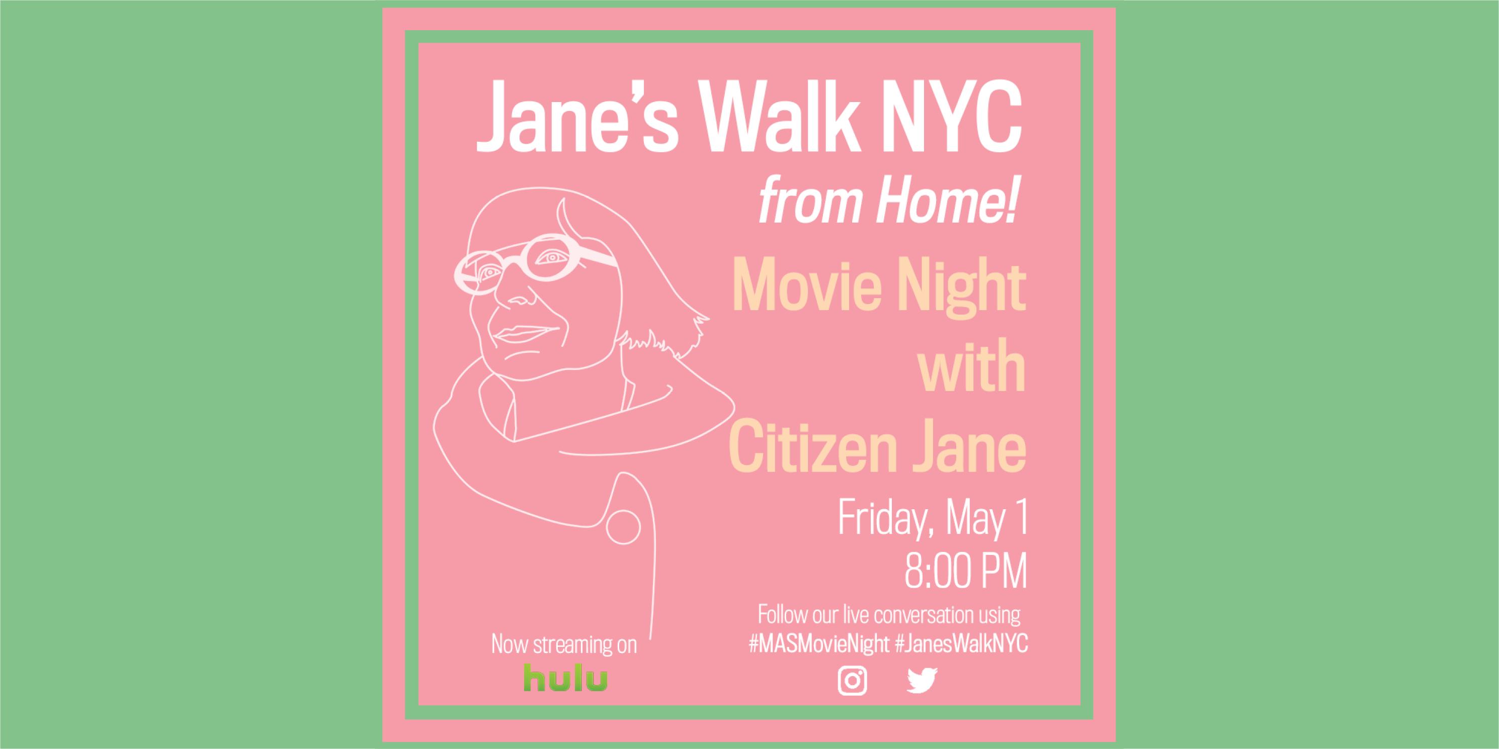 Advertisement for Jane's Walk 2020, Day 5 activities