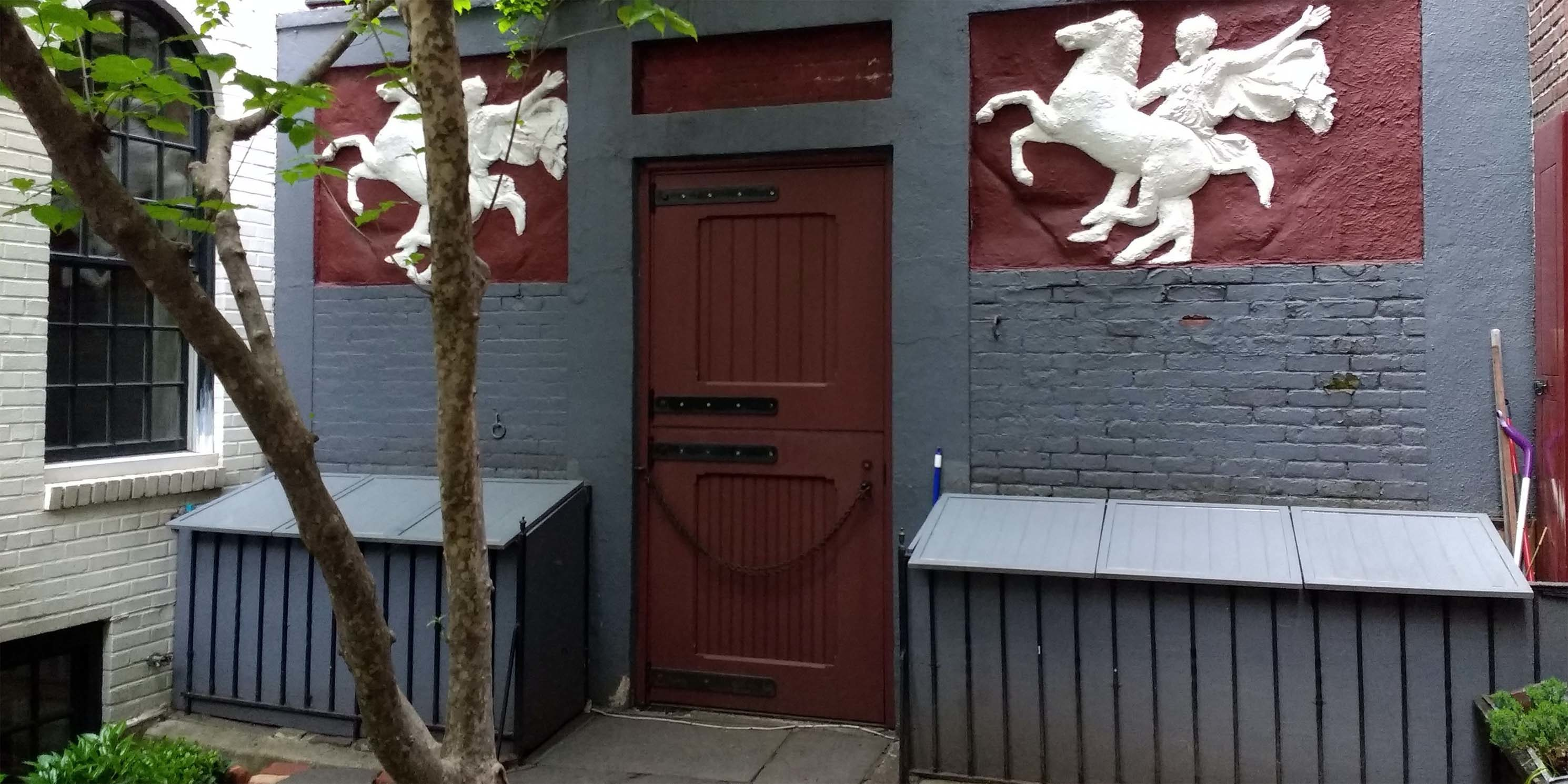 front door of a carriage house in New York City